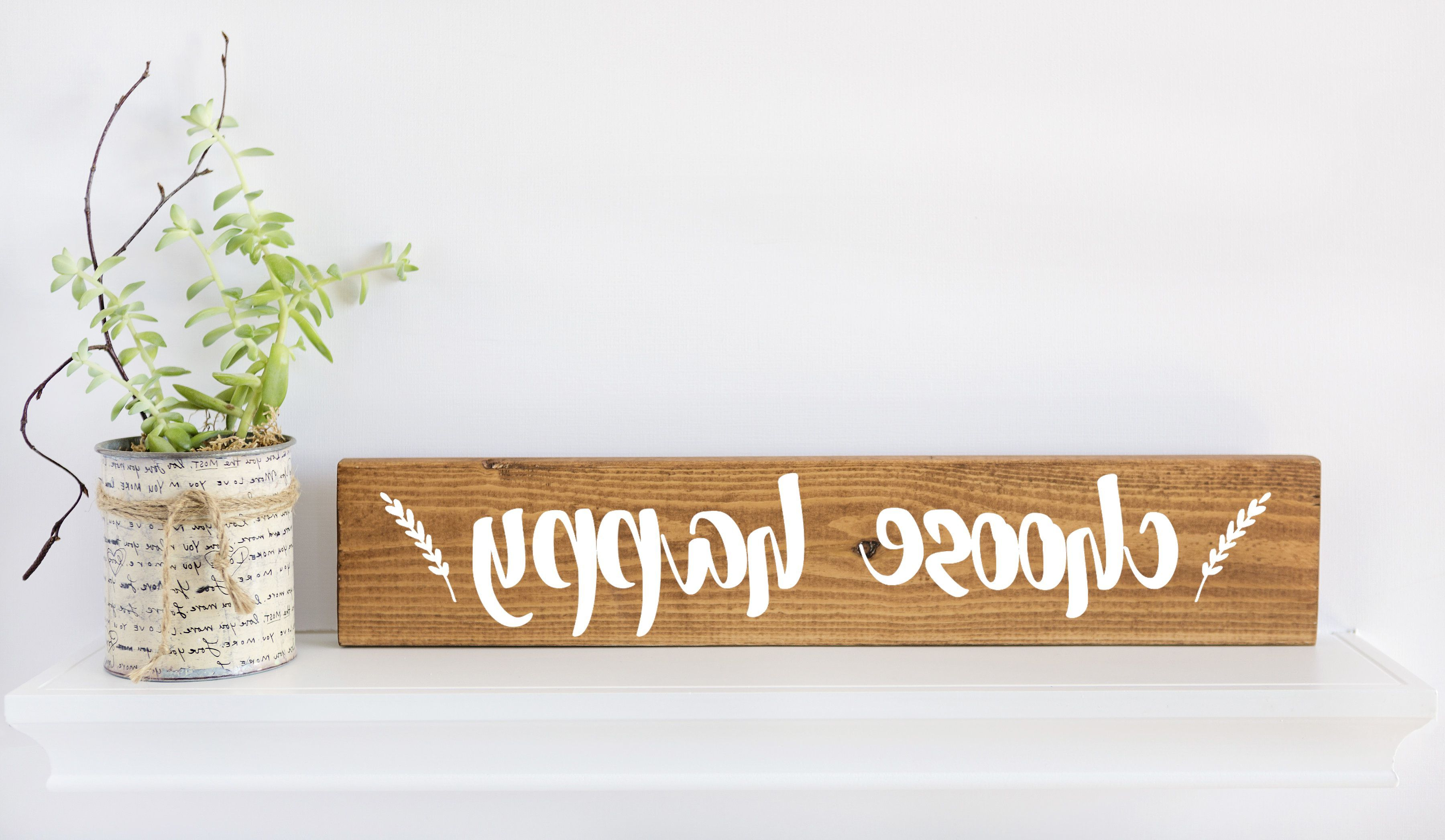 2020 Choose Happy Sign, Inspirational Wall Art, Quote Wall Art, Quote With Choose Happy Wood Wall Decor (Gallery 4 of 20)