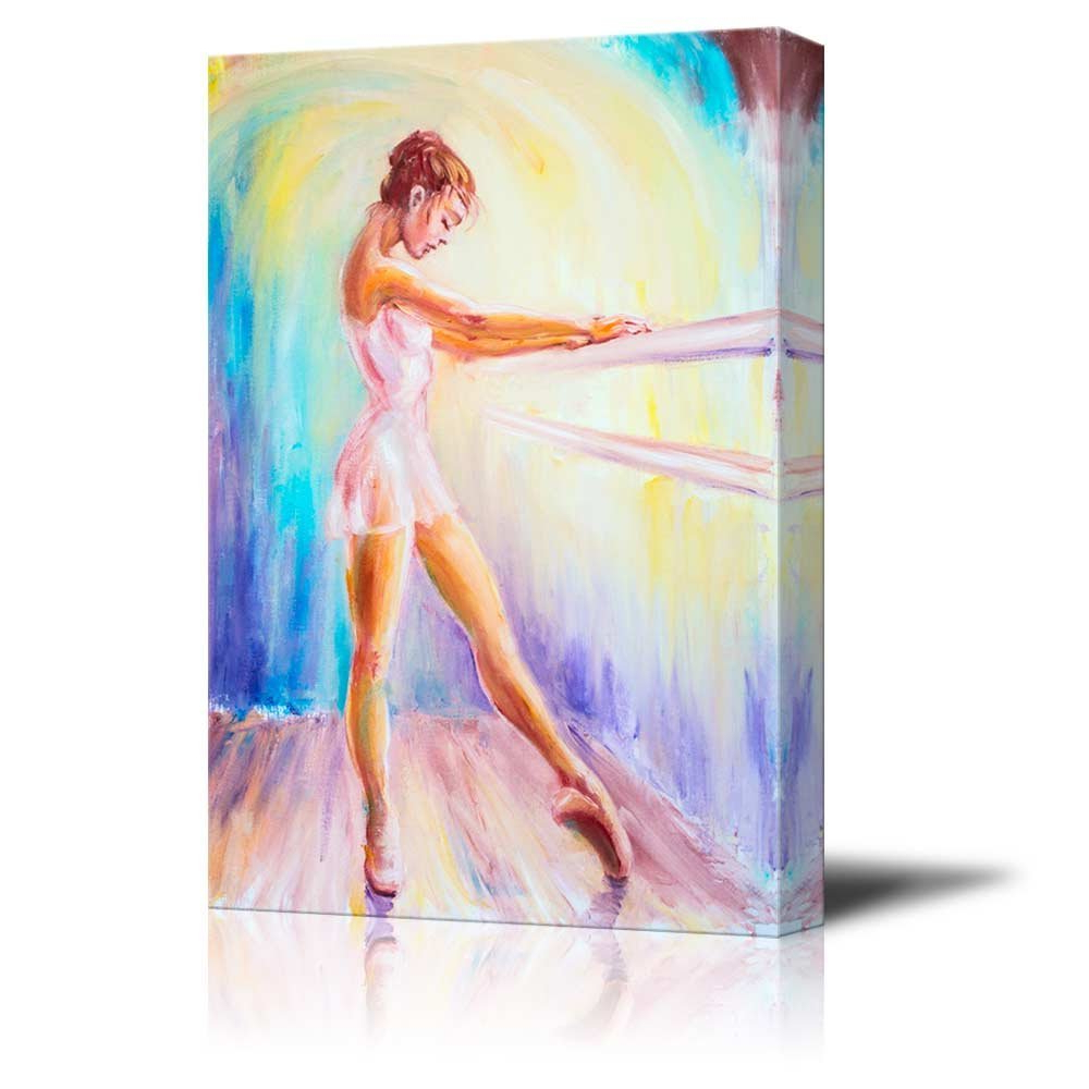 2020 Dance Of Desire Wall Decor In Amazon: Canvas Prints Wall Art – Beautiful Young Ballerina (View 1 of 20)