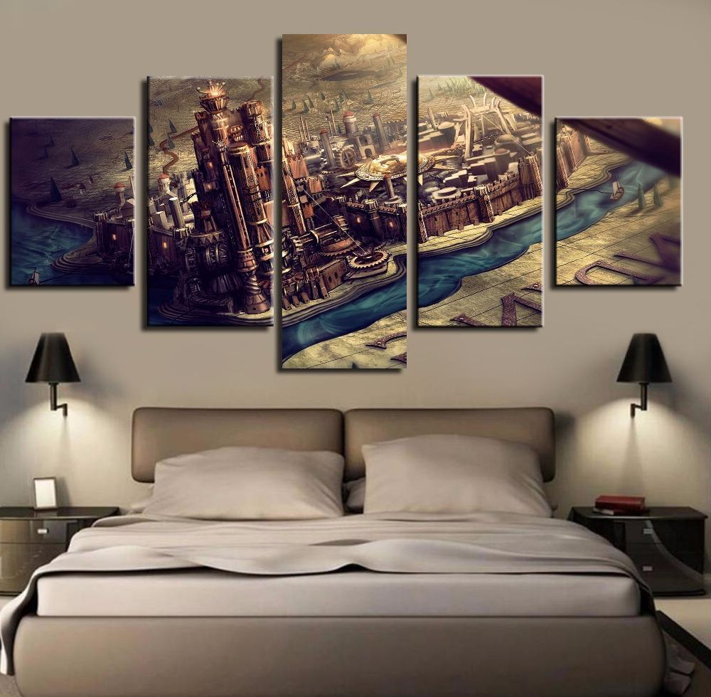 2020 Landing Art Wall Decor Intended For Game Of Thrones Westeros Map Kings Landing – Movie 5 Panel Canvas (Gallery 9 of 20)