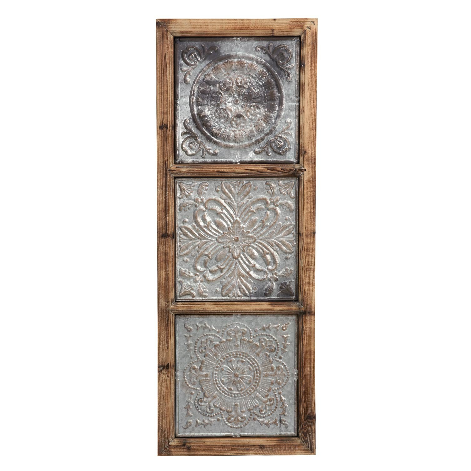 2020 Maxwell Wood And Metal Wall Decor With Regard To Union Rustic Punched Metal Vertical Wall Décor & Reviews (View 3 of 20)