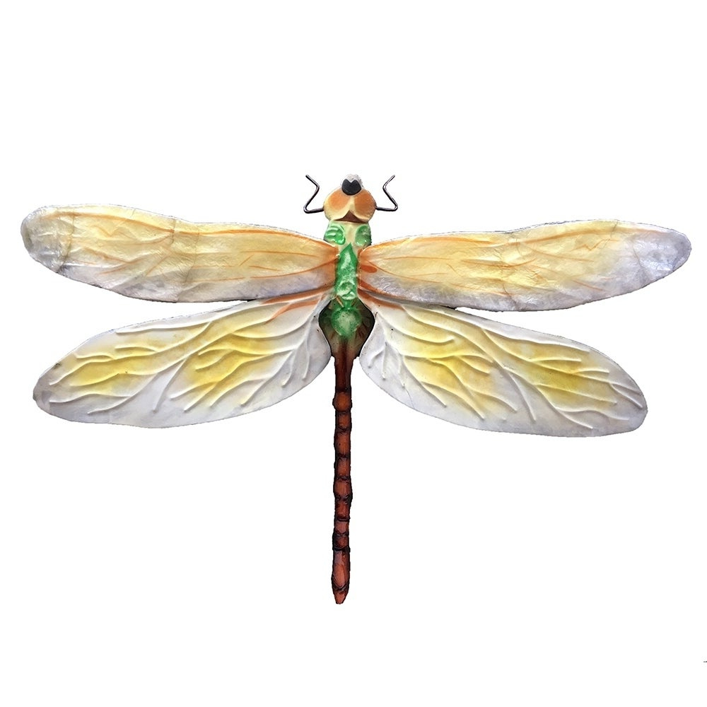 2020 Shop Handmade White And Green Dragonfly Wall Decor – On Sale – Free For Dragonfly Wall Decor (View 11 of 20)