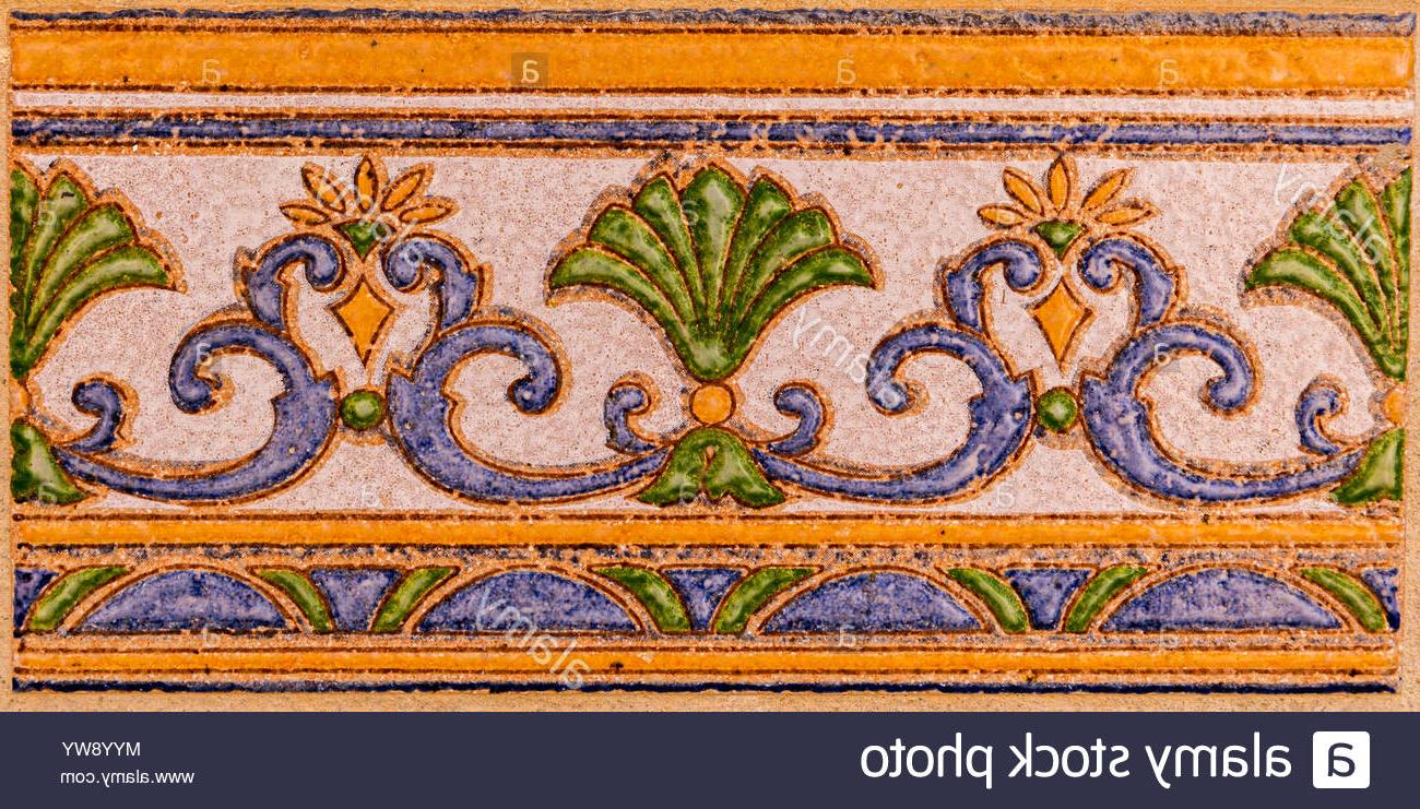2020 Spanish Ornamental Wall Decor Regarding Traditional Ornamental Spanish Decorative Tiles, Original Ceramic (View 19 of 20)