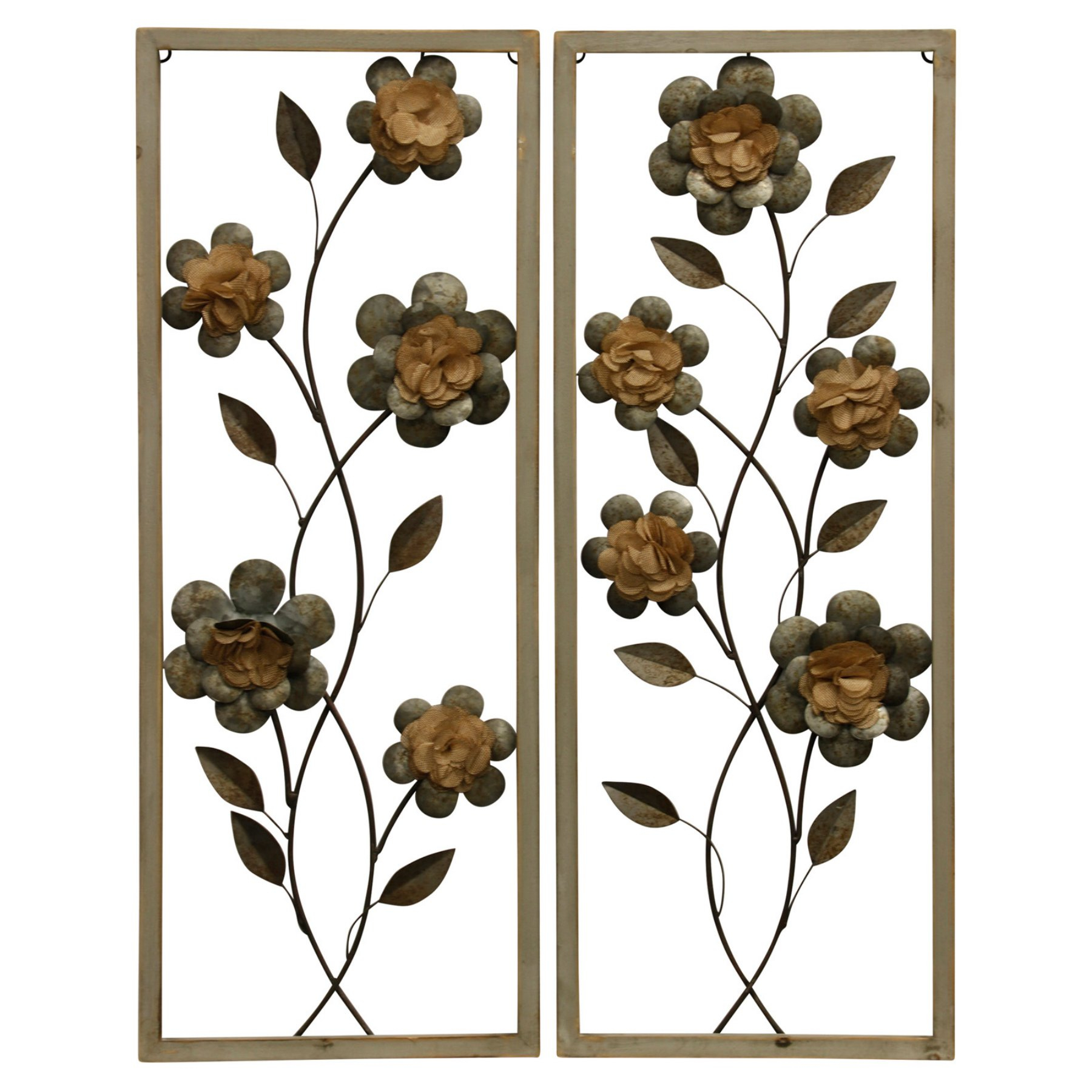 2020 Stylecraft Framed Botanical I Wall Sculptures – Set Of 2 In 2019 Pertaining To Leaves Metal Sculpture Wall Decor By Winston Porter (View 20 of 20)