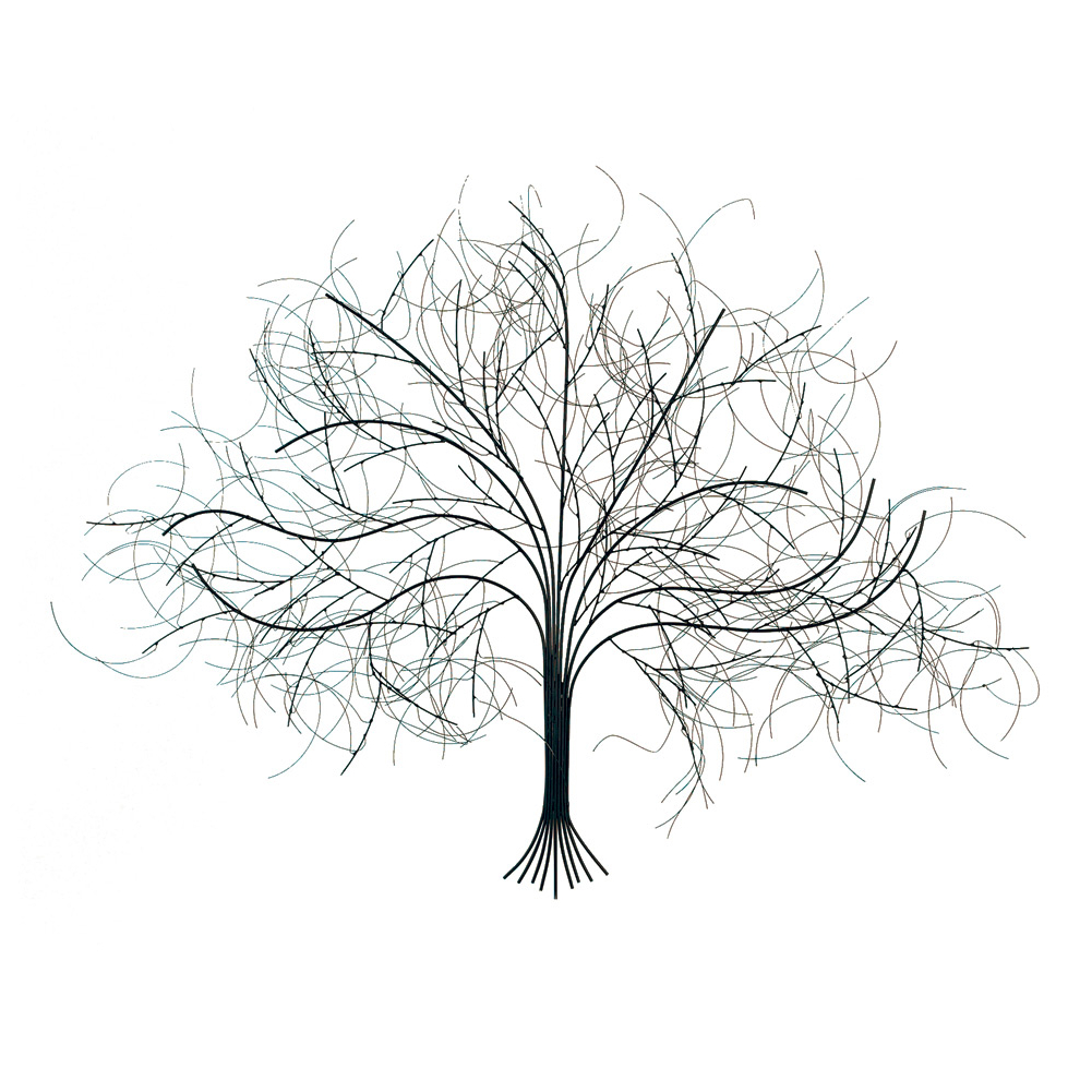 2020 Universal Direct Brands: Black Tree Handcrafted Metal Wall Art Intended For Metal Universal Wall Decor (Gallery 18 of 20)