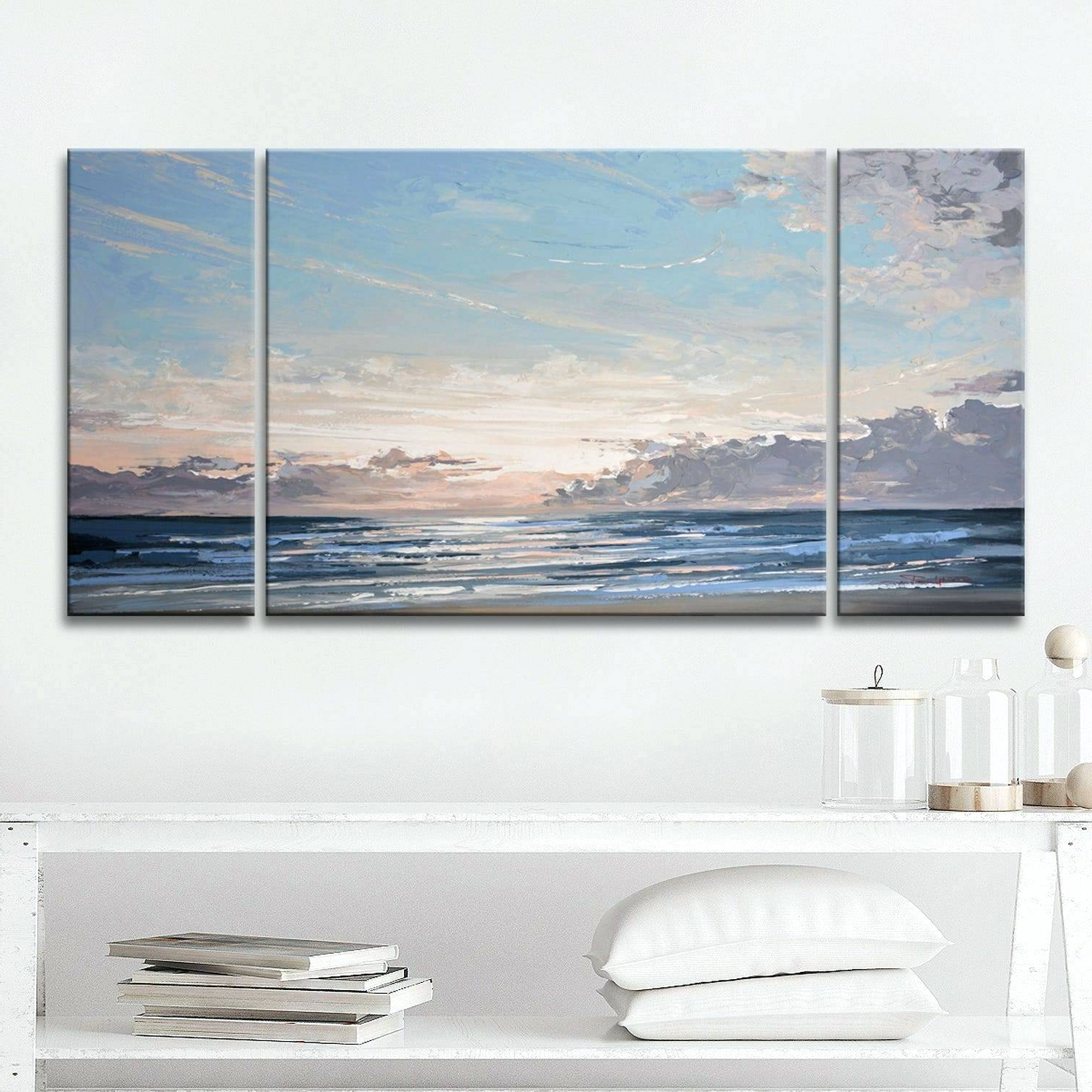 3 Piece Canvas Set Walmart Wall Art Large Abstract Sets Sea Stone Intended For Favorite 3 Piece Wall Decor Sets By Wrought Studio (View 16 of 20)