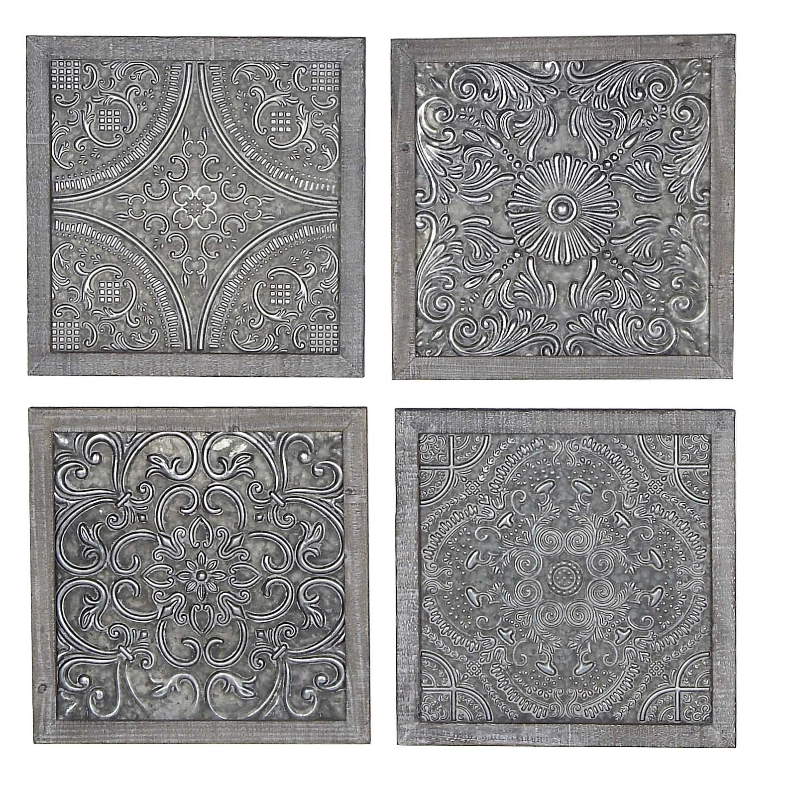 4 Piece Wall Decor Sets By Charlton Home Throughout Well Known Bungalow Rose 4 Piece Wall Decor Set & Reviews (Gallery 15 of 20)