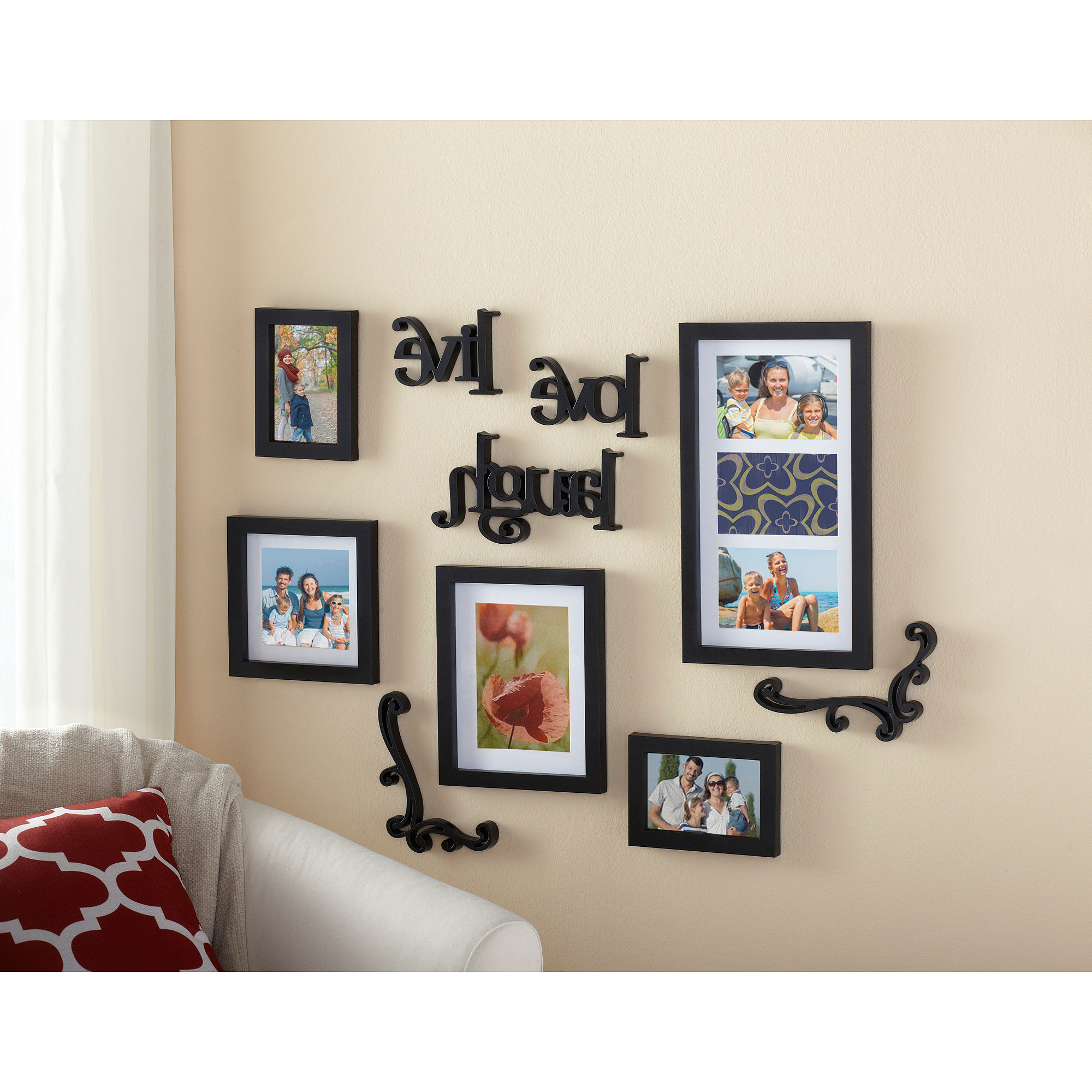 4x6 White Wood Picture Frame – Gallery Collection – Walmart Intended For Recent Live Love Laugh 3 Piece Black Wall Decor Sets (View 17 of 20)