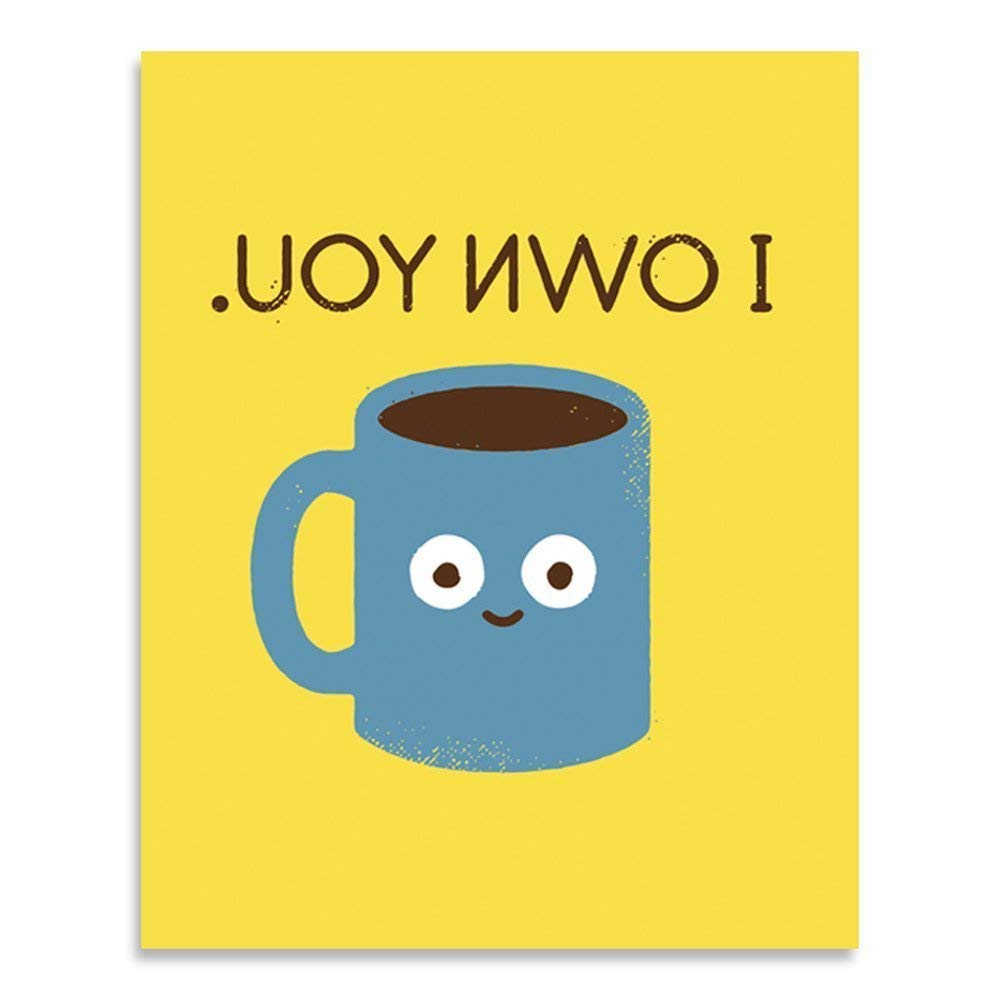 Amazon: Coffee Wall Art Kitchen Decor – Funny Caffeine Addiction Within Trendy Cup Of Joe Wall Decor (View 2 of 20)