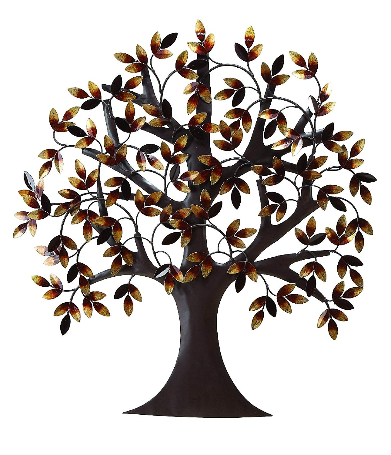 "Amazon: Deco 79 13862 Metal Tree Wall Decor 32""h, 31""w: Home Within Well Known Tree Shell Leaves Sculpture Wall Decor (Gallery 5 of 20)"