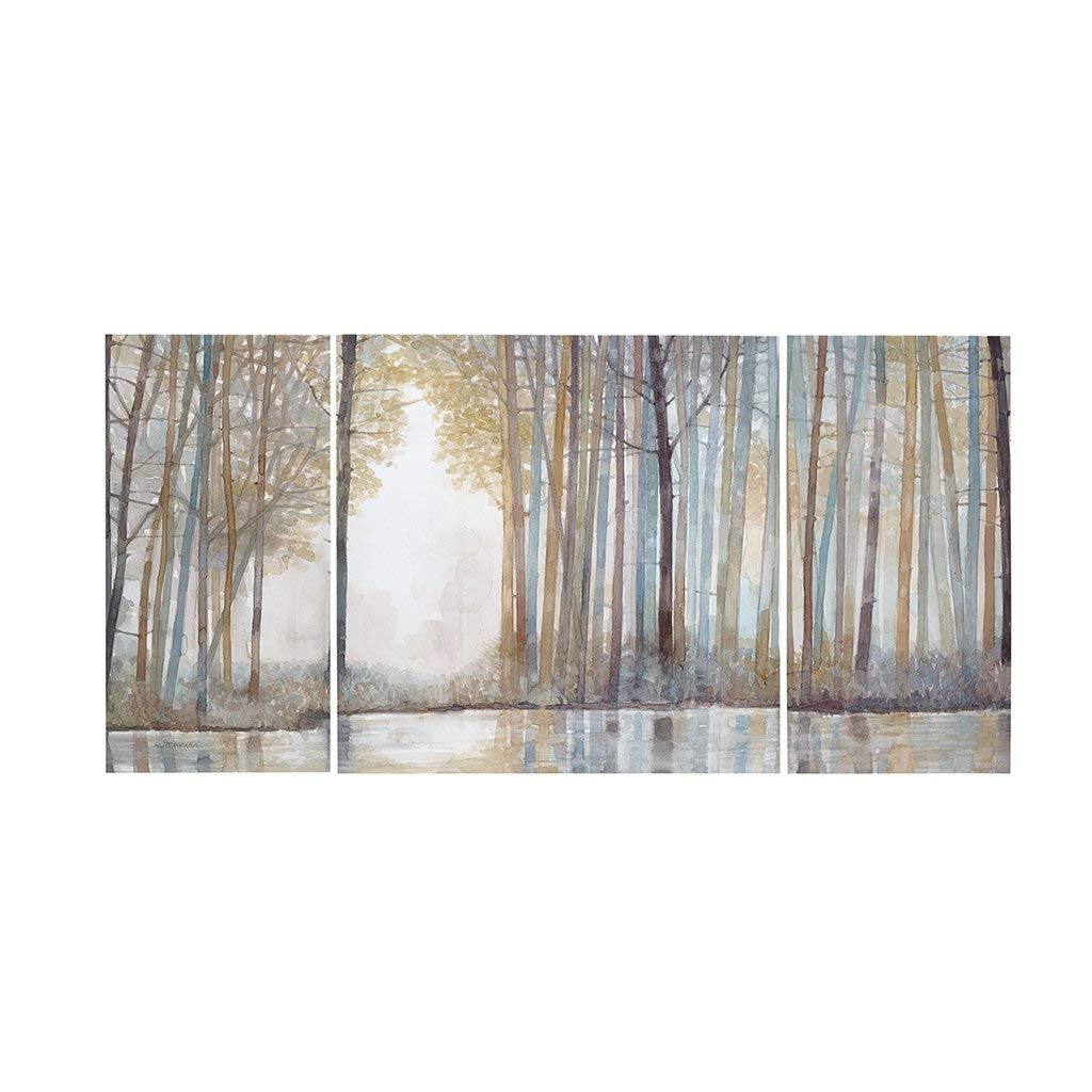 Amazon: Forest Reflections Landscape Canvas Wall Art 15x30 2 Within Trendy Contemporary Forest Metal Wall Decor (View 14 of 20)