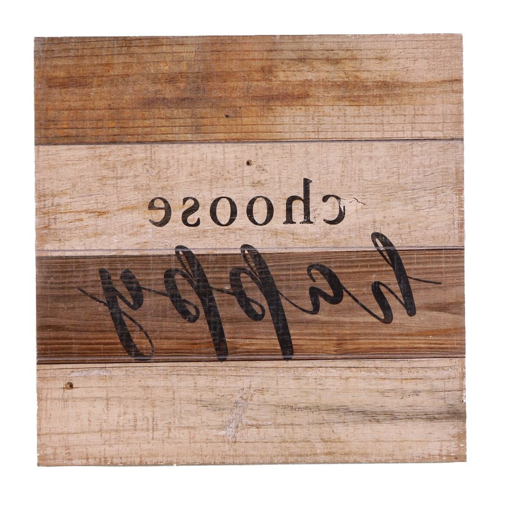 "Amazon: Nikky Home 12"" Rustic Wood Wall Sign Plaque With Choose For 2019 Choose Happy Wood Wall Decor (View 6 of 20)"