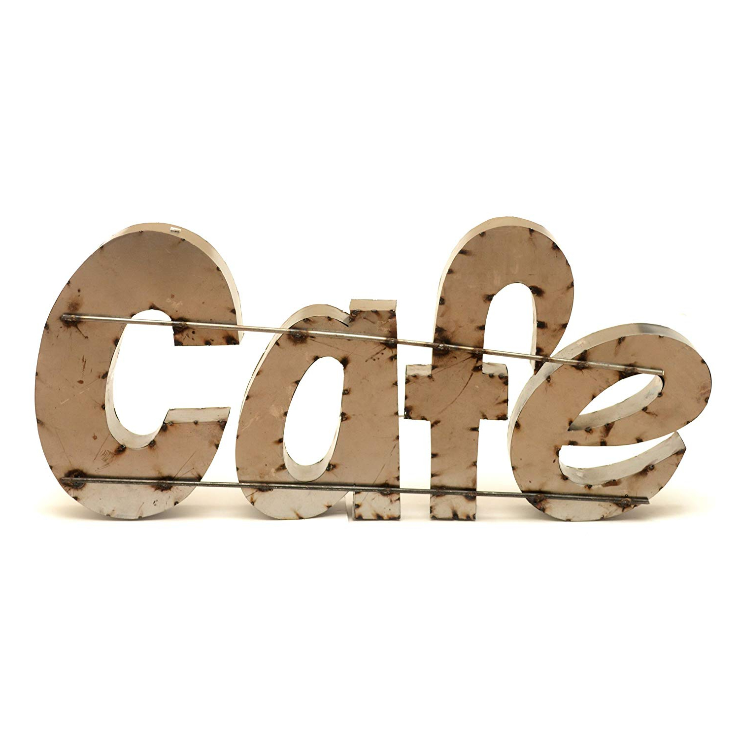 "Amazon: Rustic Arrow Cafe Sign With Rebar For Decor, 2"" X 31"" X With Favorite Coffee Sign With Rebar Wall Decor (View 19 of 20)"