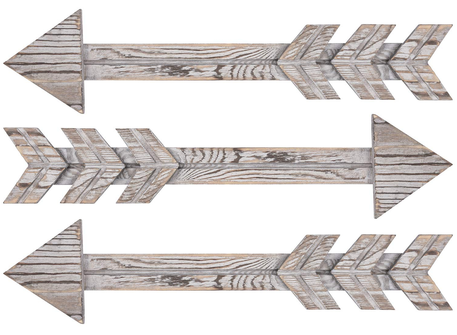 Amazon: Timeyard Wood Arrows Wall Decor, Set Of 3 Farmhouse Within Newest Brown Metal Tribal Arrow Wall Decor (View 7 of 20)