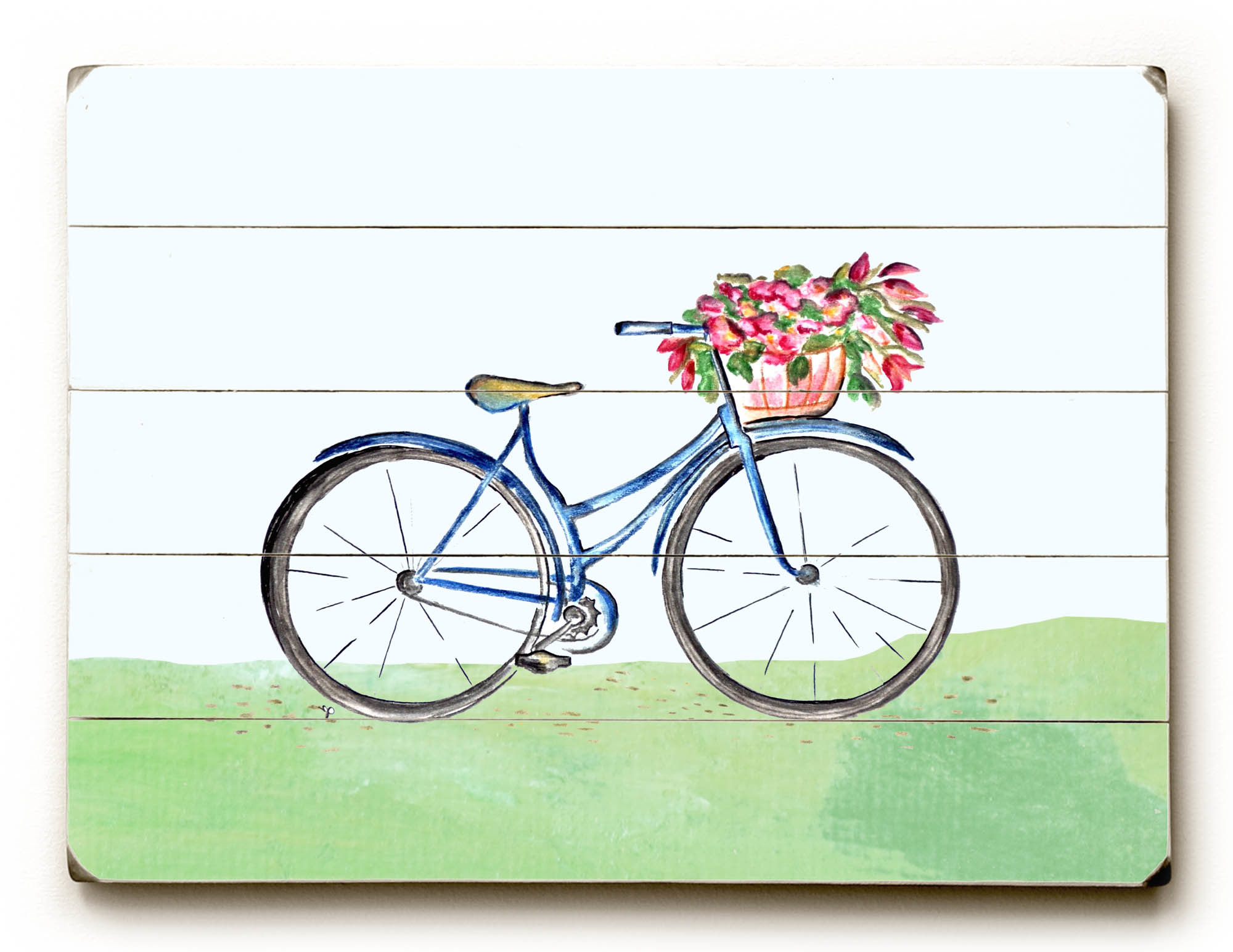 August Grove 'spring Bicycle' Wall Art Plaque (View 4 of 20)