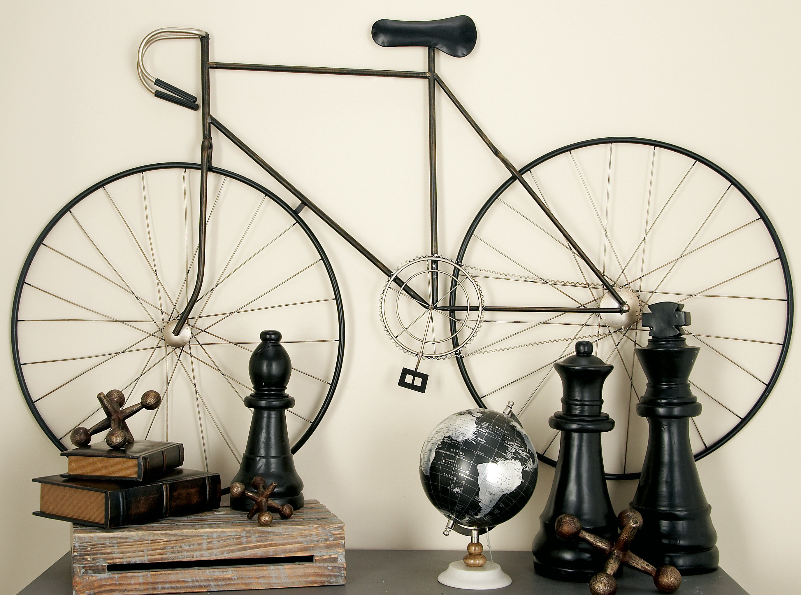 Best And Newest Metal Bicycle Wall Decor In Cole & Grey Bicycle Wall Décor & Reviews (View 12 of 20)