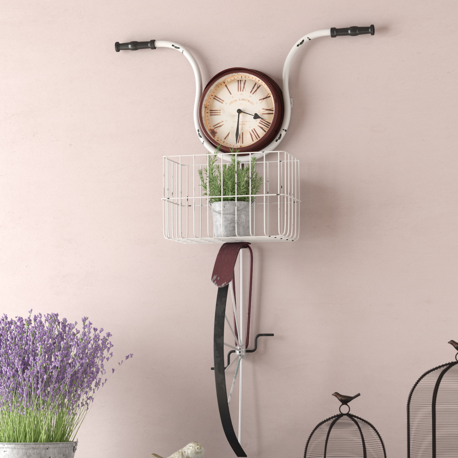 Bike Wall Decor By August Grove Intended For 2019 August Grove Andrewson Bicycle Wall Clock & Reviews (Gallery 20 of 20)