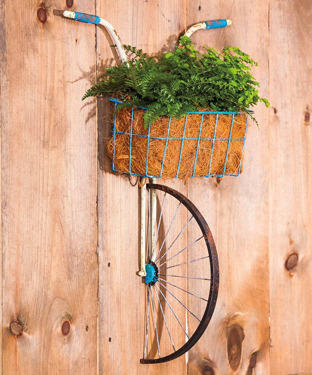 Bike Wall Decor By August Grove Within Most Current Metal Bicycle With Basket Wall Décor $95 On #zulily #zulilyfinds (View 9 of 20)