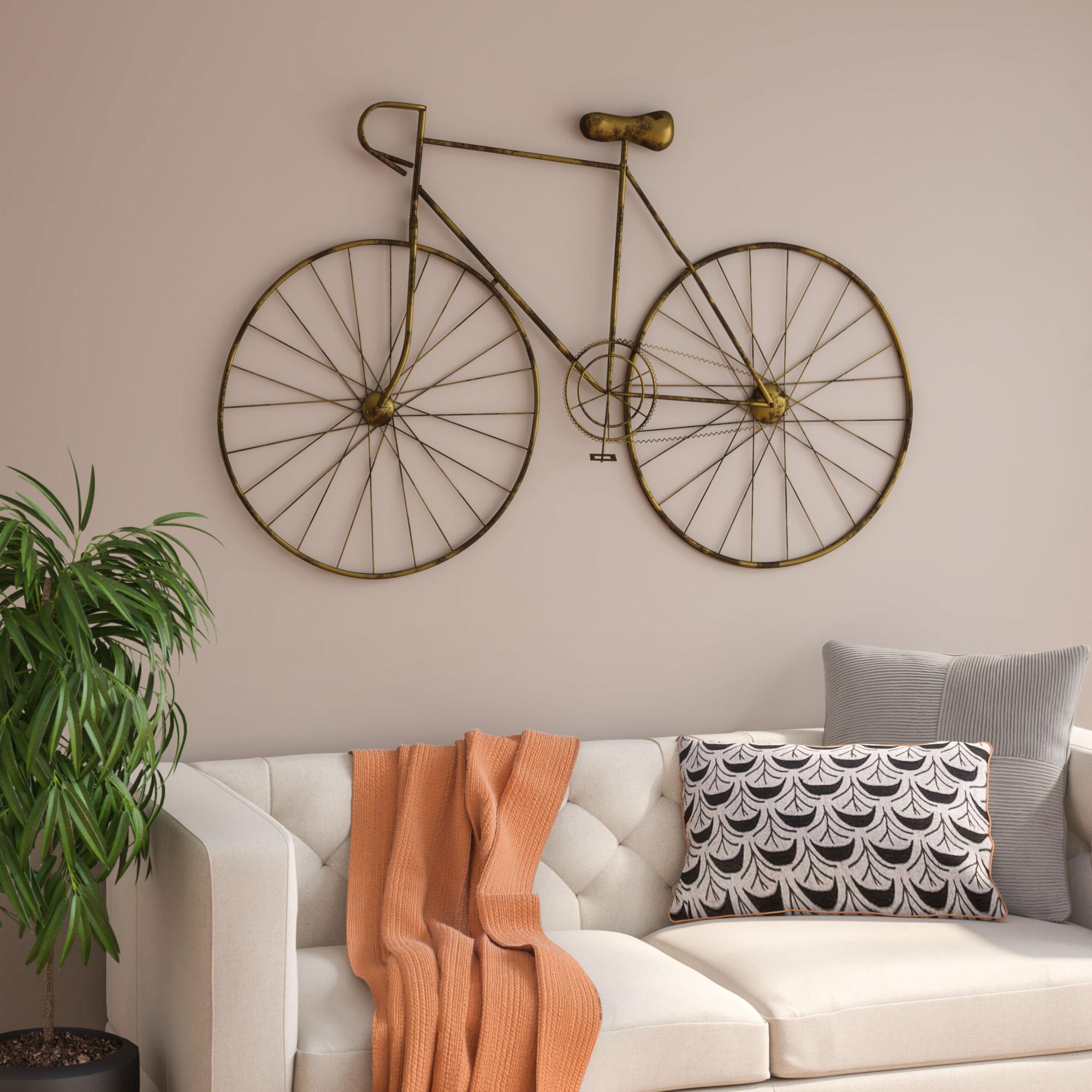 Brayden Studio Bronze Bicycle Wall Décor & Reviews (View 6 of 20)