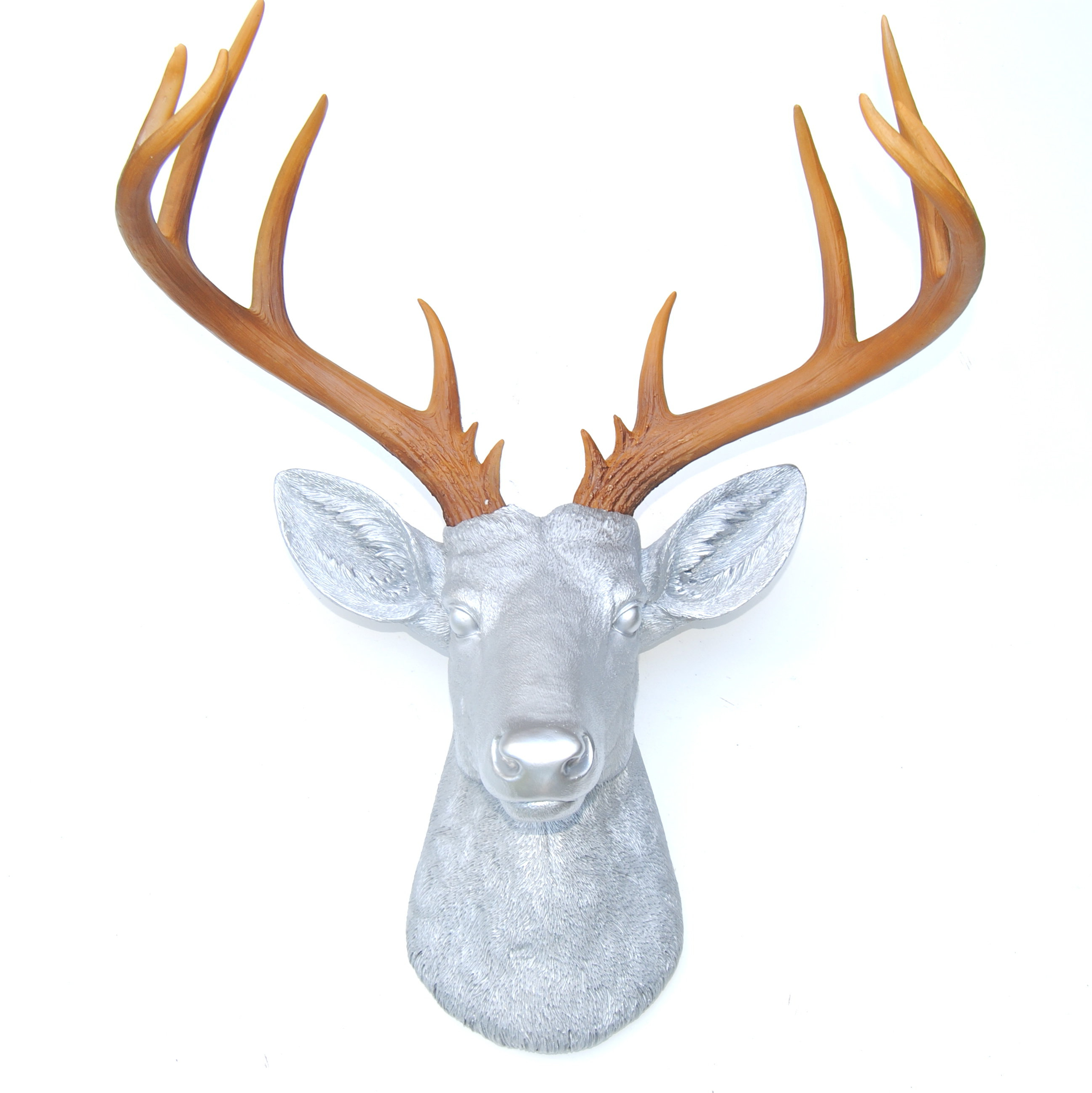 Brayden Studio Large Deer Head Faux Taxidermy Wall Décor (View 4 of 20)
