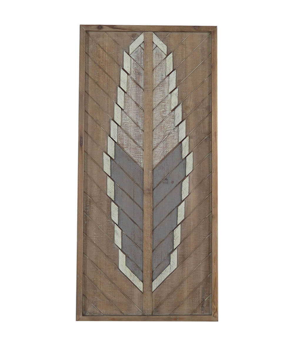 Buy Arrow Feather Detail Medium Frame Wall Tribal Art Decor For Widely Used Brown Metal Tribal Arrow Wall Decor (View 12 of 20)