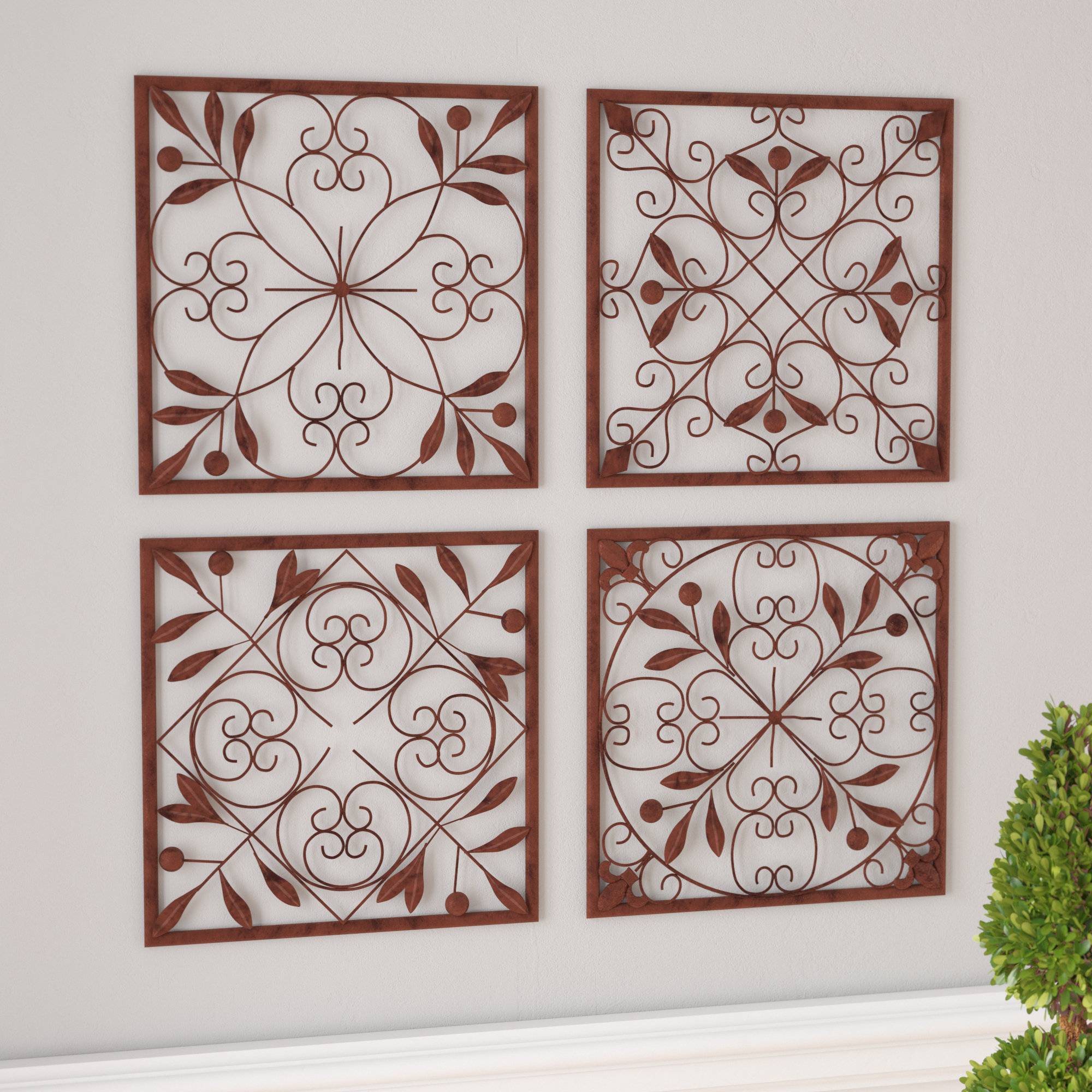 Charlton Home 4 Piece Wall Décor Set & Reviews (View 2 of 20)
