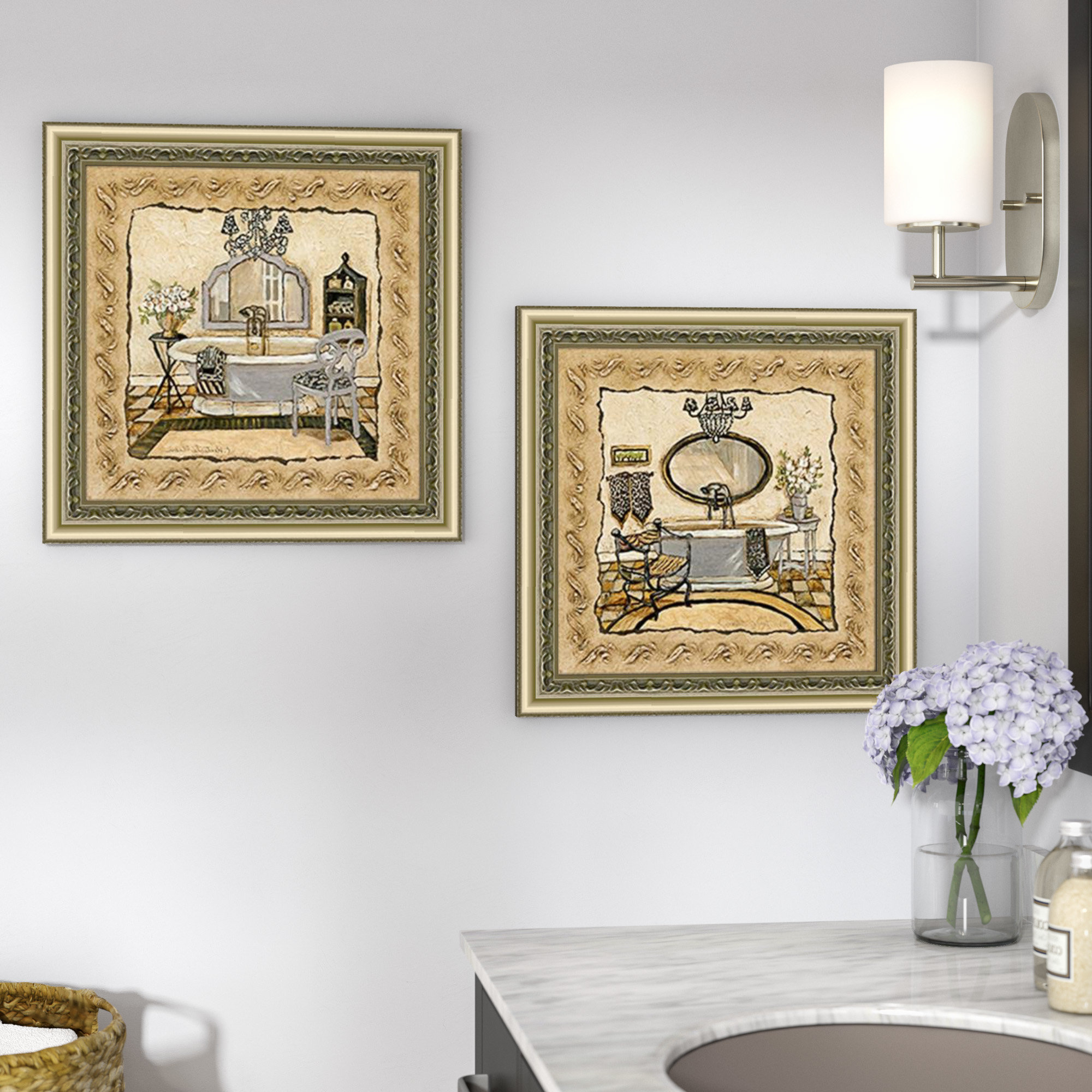 Charlton Home 'chandelier Elegance' 2 Piece Framed Acrylic Painting In Most Recent 4 Piece Wall Decor Sets By Charlton Home (View 16 of 20)