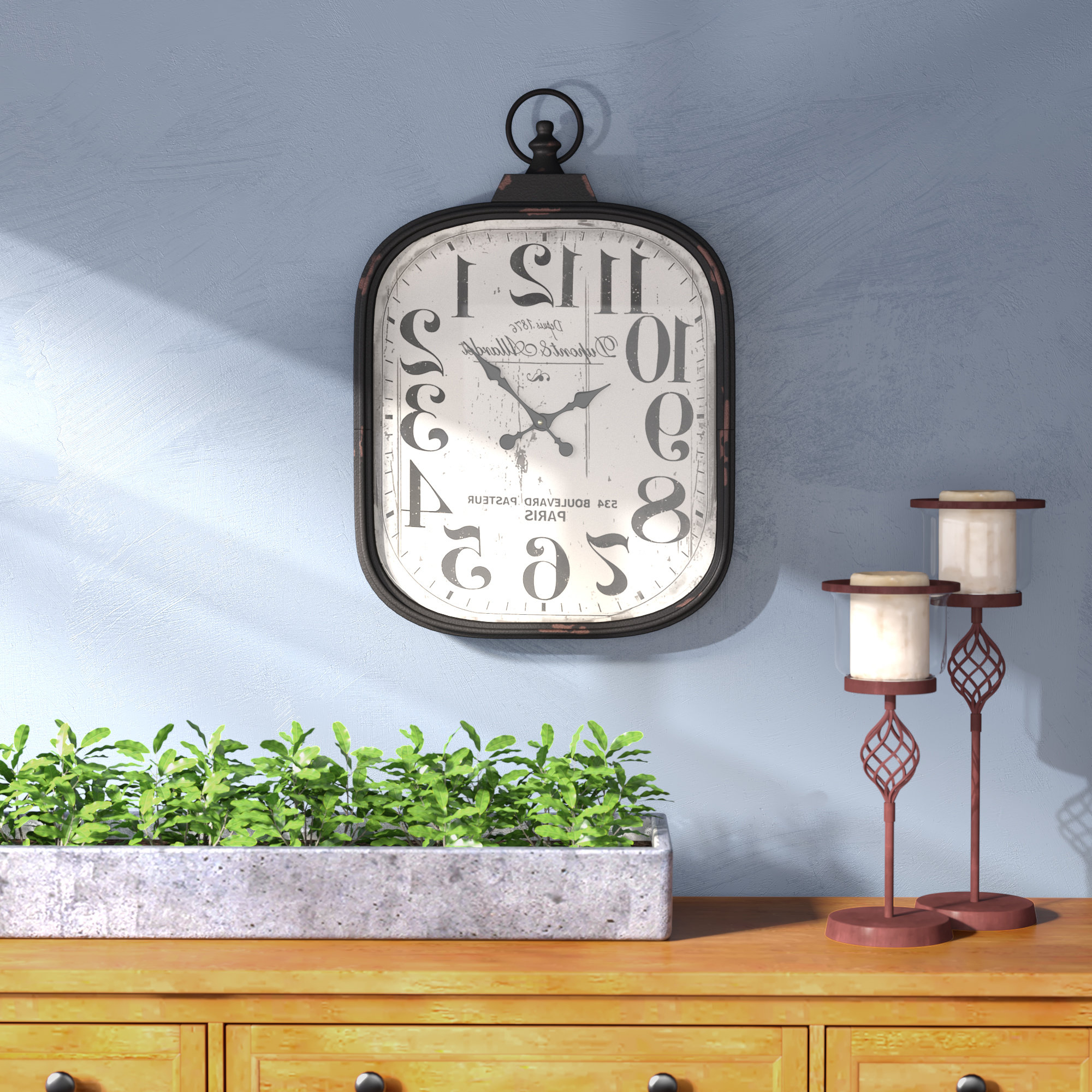 Charlton Home Jellison Wall Clock & Reviews (Gallery 17 of 20)