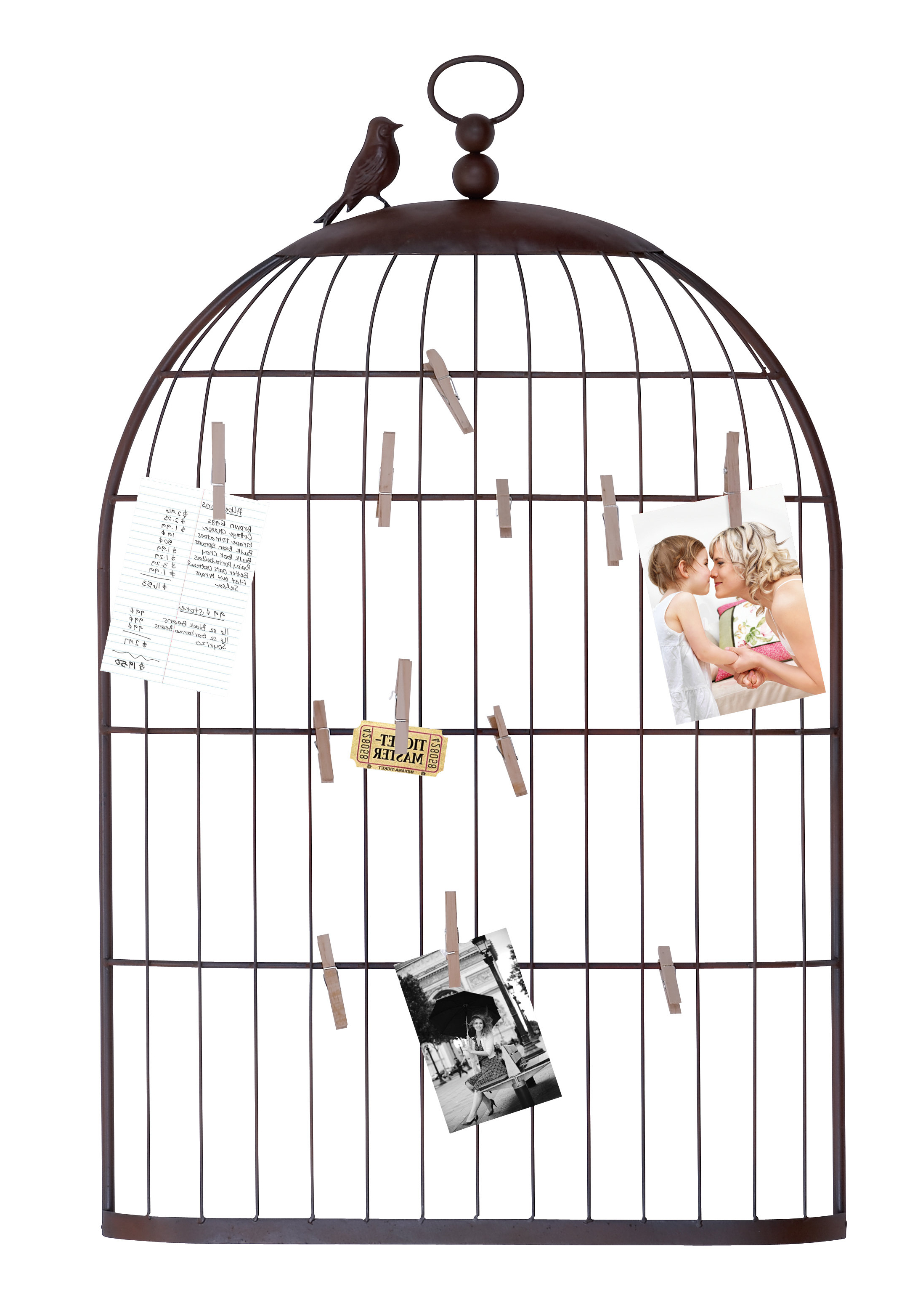 Cloyd Birdcage Photo Holder & Reviews (Gallery 18 of 20)