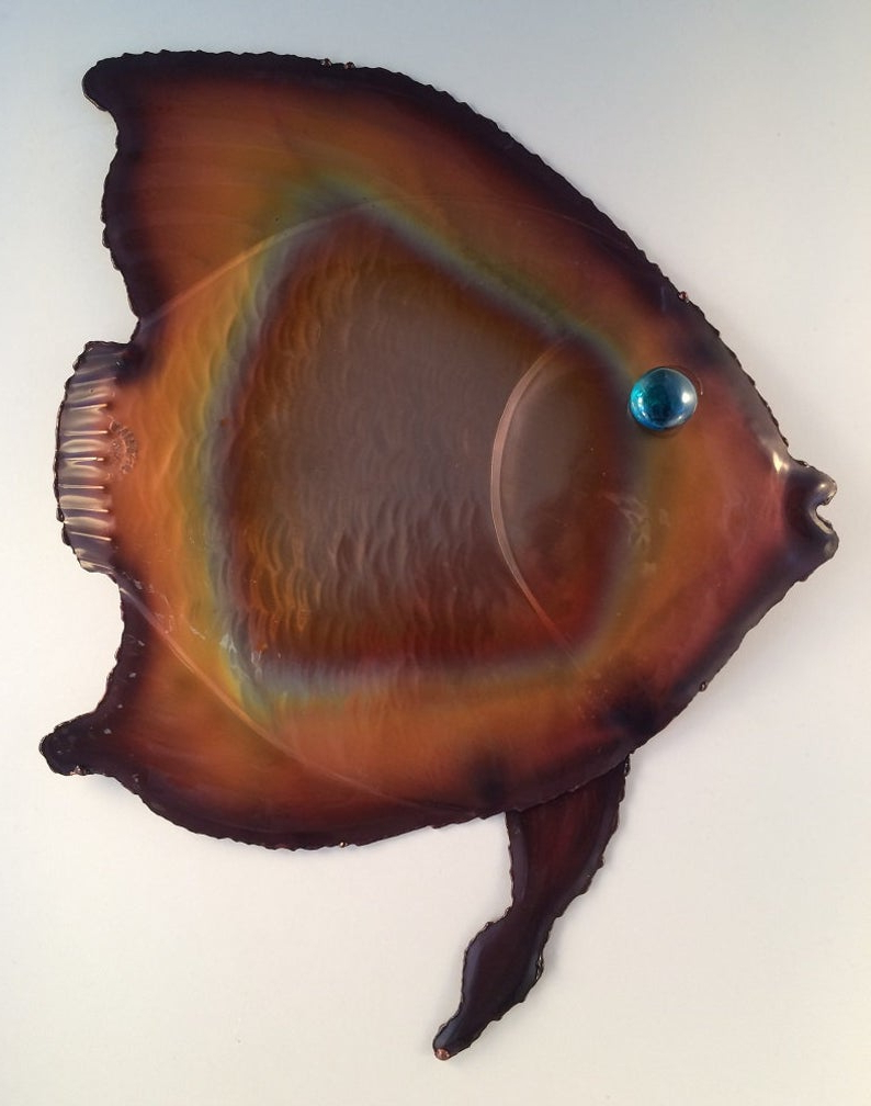 Copper Tropical Fish/metal Fish Wall Art/coastal (View 9 of 20)