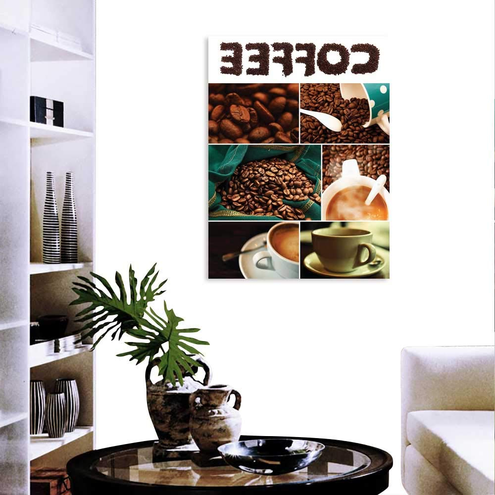 Cup Of Joe Wall Decor With Regard To Well Known Amazon: Anyangeight Coffee Customizable Wall Stickers Photo (View 8 of 20)