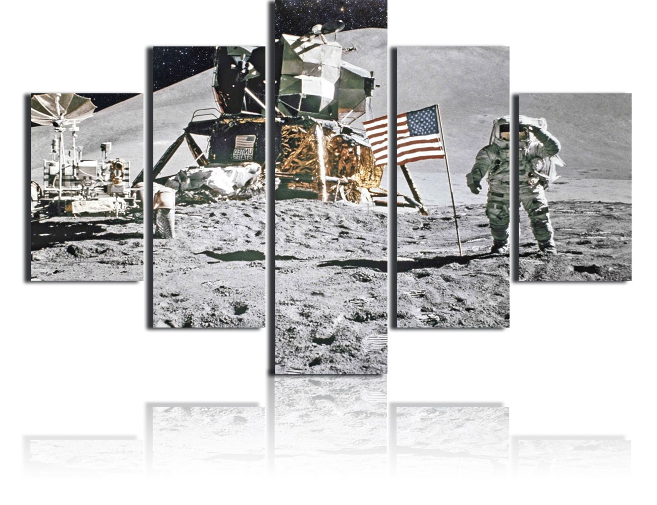 Current Landing Art Wall Decor Regarding Amazon: American Native Canvas Wall Art Armstrong Landing On The (Gallery 7 of 20)