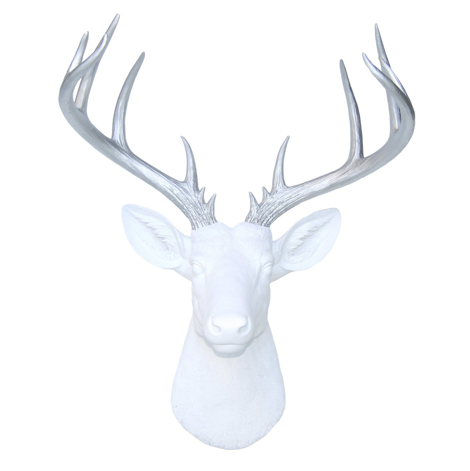 Current Large Deer Head Faux Taxidermy Wall Decor Inside Amazon: Near And Deer 14 Point Fake Deer Head – Large Faux (Gallery 2 of 20)