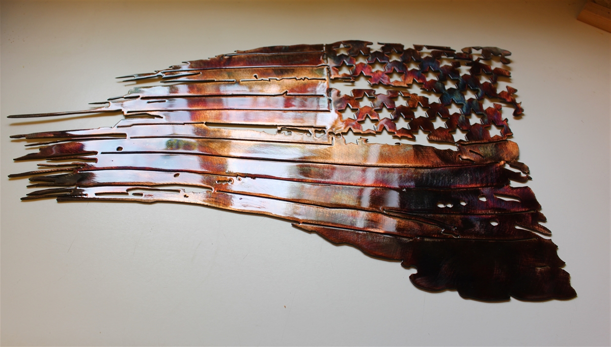 Current Maxwell Wood And Metal Wall Decor Within Metal American Flag Wall Art Motivate Email And Also  (View 7 of 20)