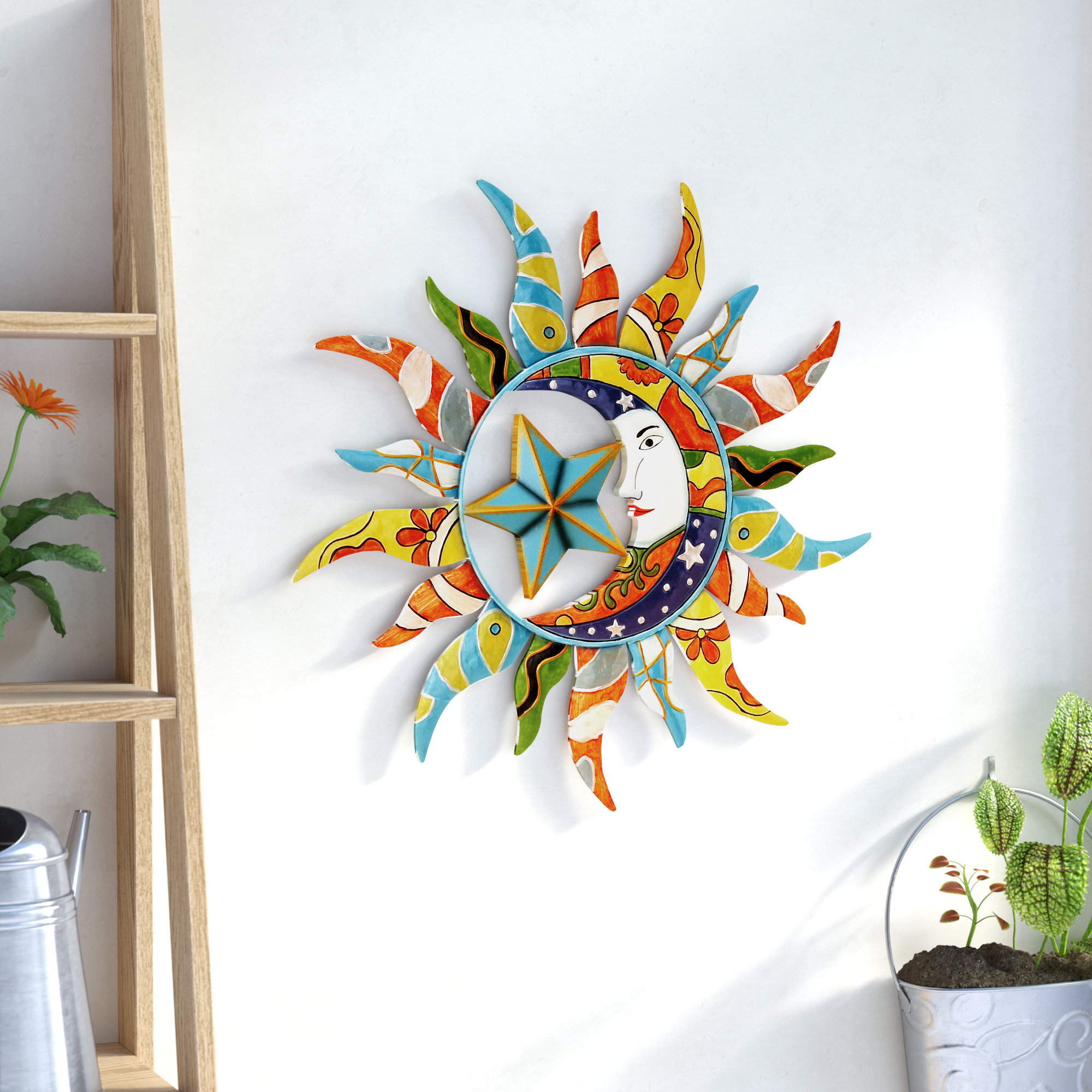 Current Nature Metal Sun Wall Decor Throughout World Menagerie Nature Metal Sun Wall Décor & Reviews (Gallery 1 of 20)