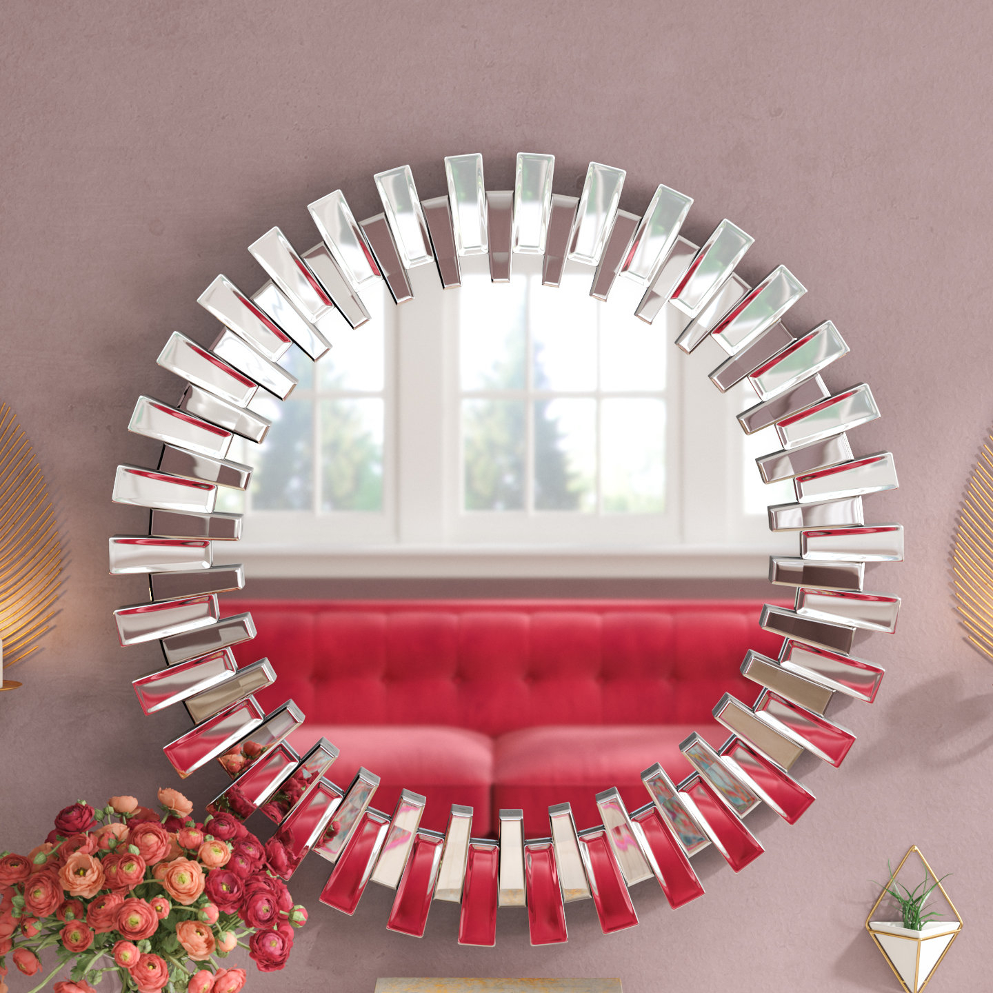 Current Starburst Wall Decor By Willa Arlo Interiors In Willa Arlo Interiors Deniece Sunburst Round Wall Mirror & Reviews (View 4 of 20)