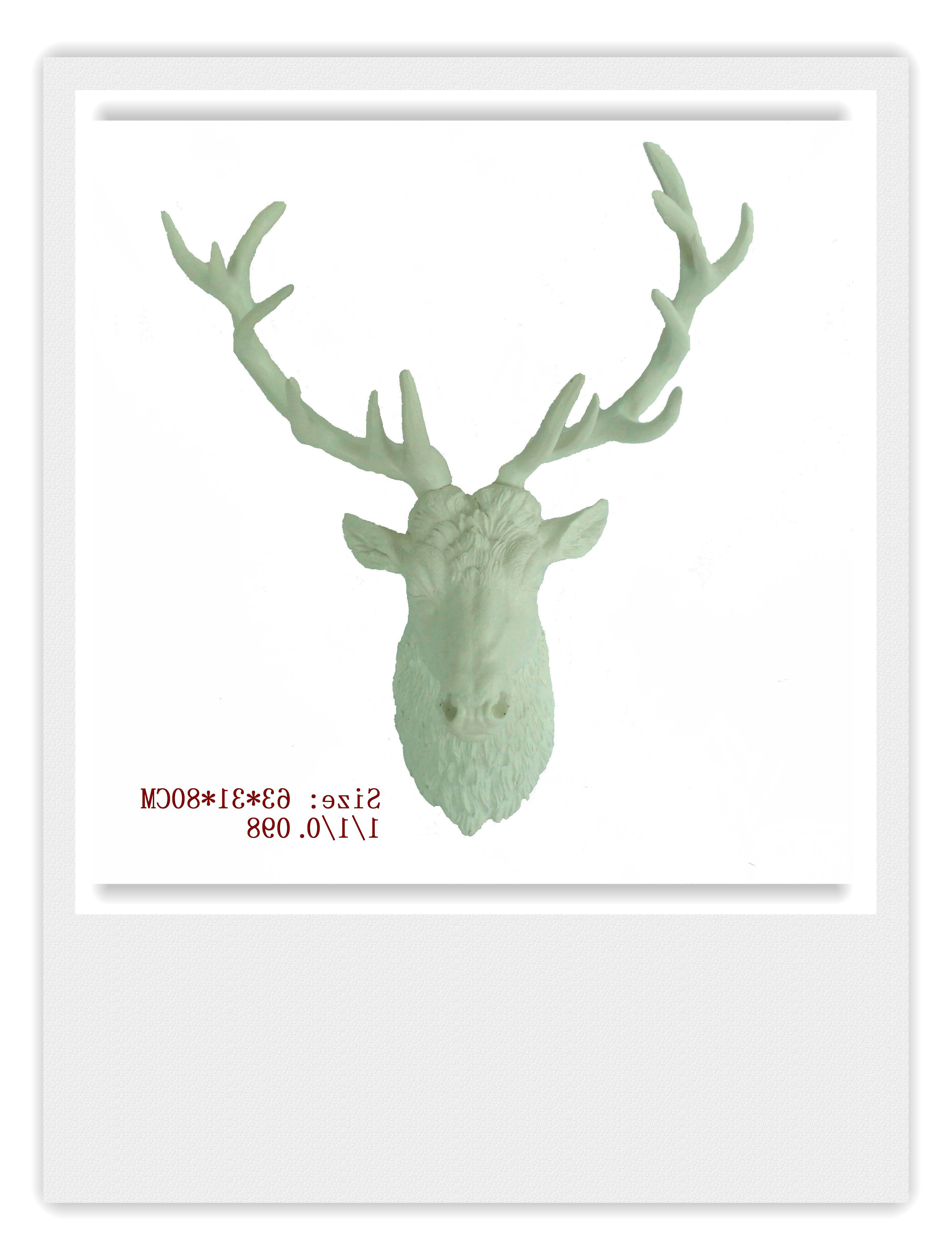 Current White Large Deer Head Wall Hanging,the White Stag Decorwhite Regarding Large Deer Head Faux Taxidermy Wall Decor (View 7 of 20)