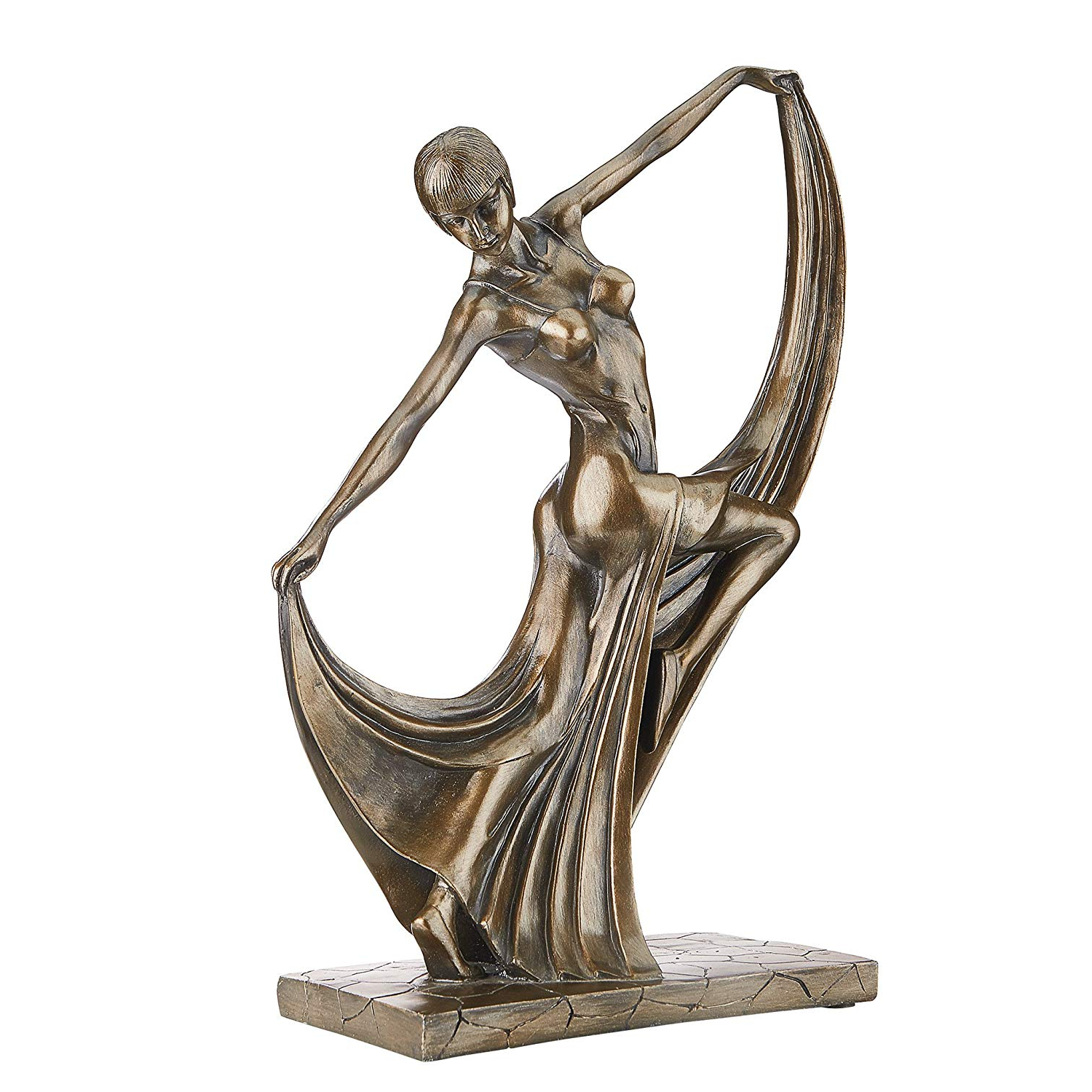 Dance Of Desire Wall Decor Inside Most Recently Released Amazon: Design Toscano Mistress Of The Dance Art Deco Statue (View 4 of 20)
