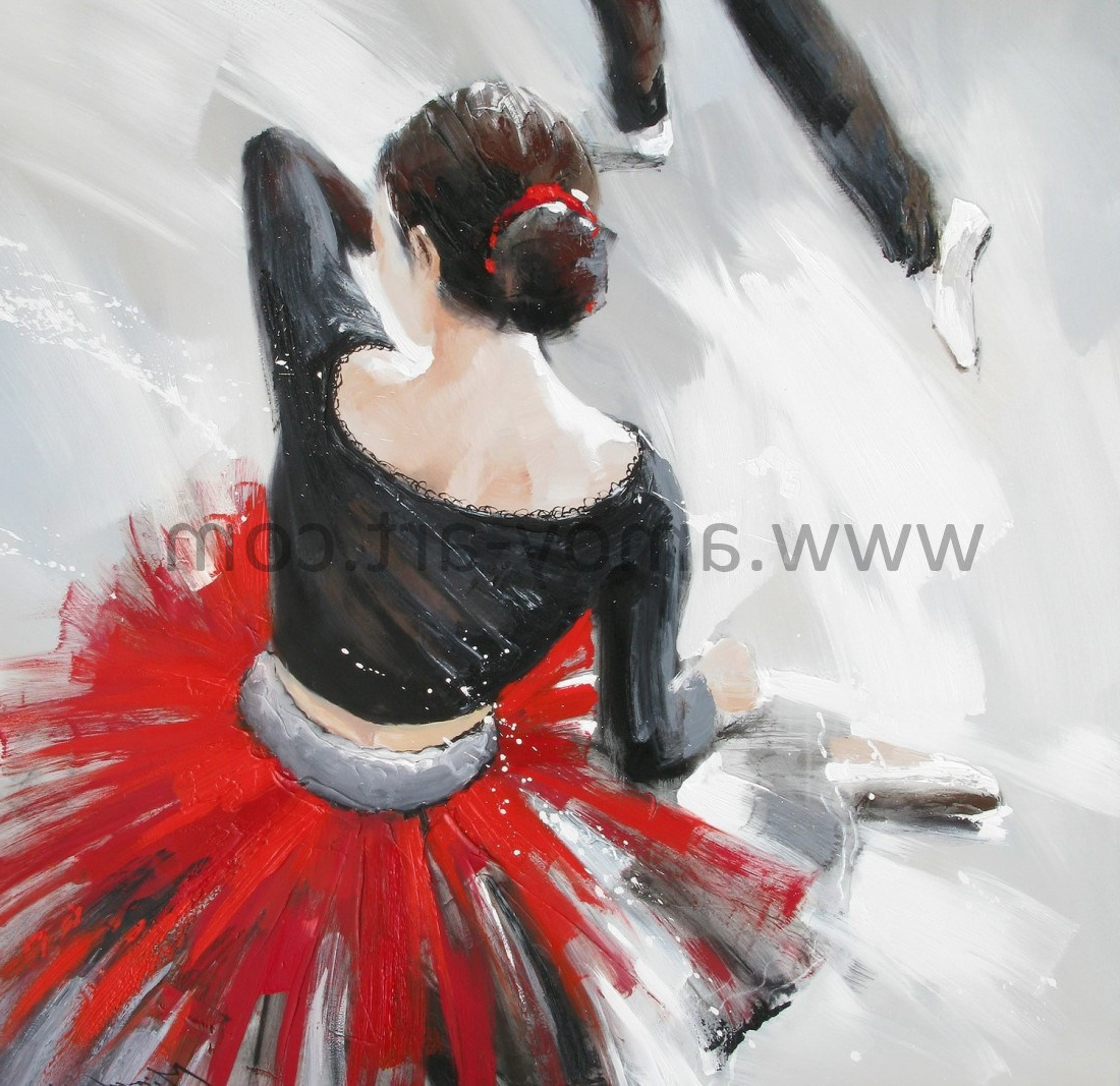 Dance Of Desire Wall Decor Intended For Famous China Modern Dancing Lady Oil Paintings For Wall Decor – China (View 5 of 20)