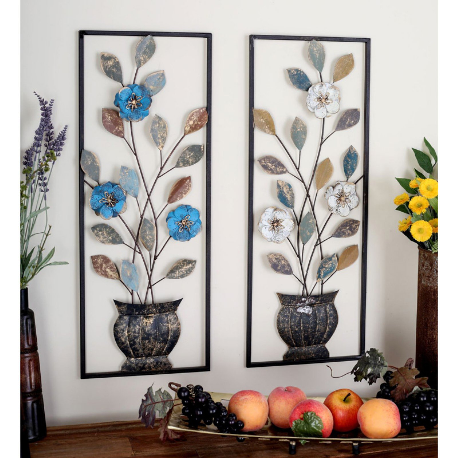 Decmode Metal Leaves Wall Sculpture – Set Of (View 6 of 20)