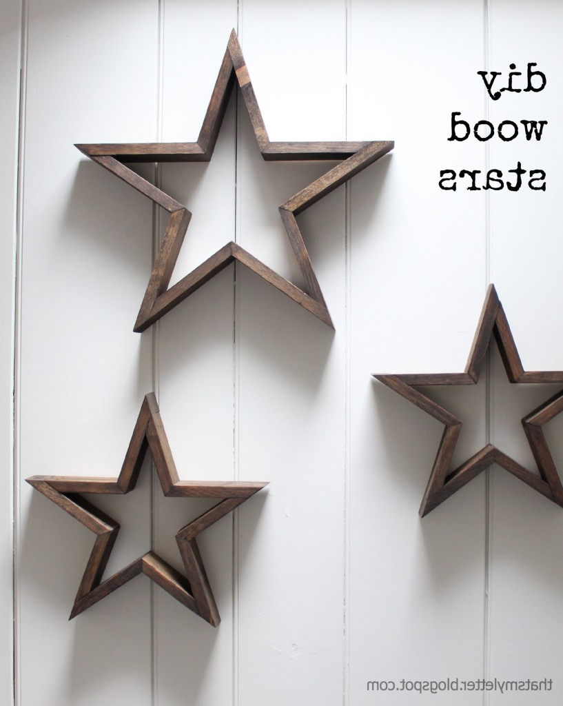 Diy Wooden Star (View 3 of 20)