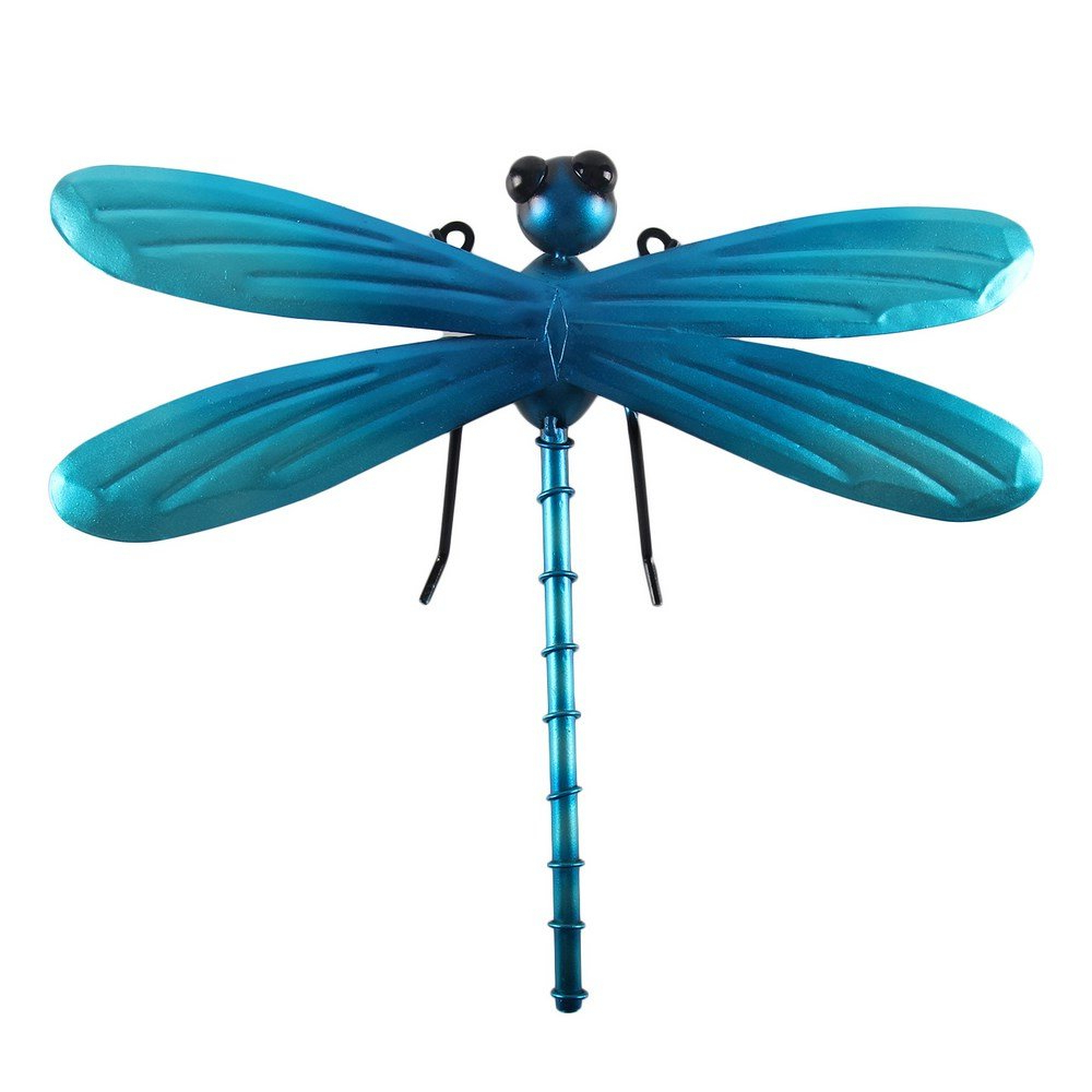 Dragonfly Wall Decor Intended For Newest Amazon: Liffy Metal Dragonfly Wall Decor Outdoor Hanging Art (View 7 of 20)