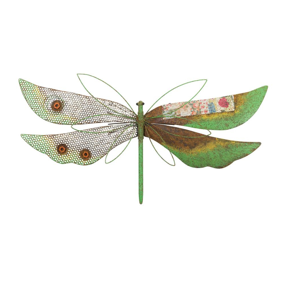 Dragonfly Wall Decor With Most Recently Released Regal Rustic Wall Decor – Dragonfly Green 12218 – The Home Depot (Gallery 15 of 20)