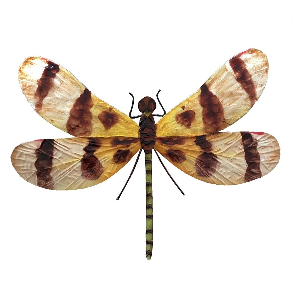 Dragonfly Wall Decor Within Best And Newest Shop Handmade Brown And Yellow Dragonfly Wall Decor – On Sale – Free (View 20 of 20)