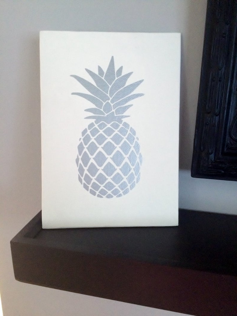 Etsy Inside Pineapple Wall Decor (Gallery 5 of 20)