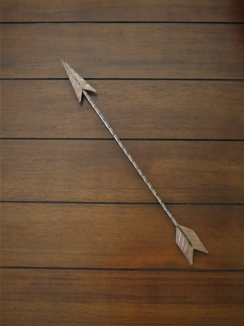 Etsy Pertaining To Widely Used Brown Metal Tribal Arrow Wall Decor (View 3 of 20)