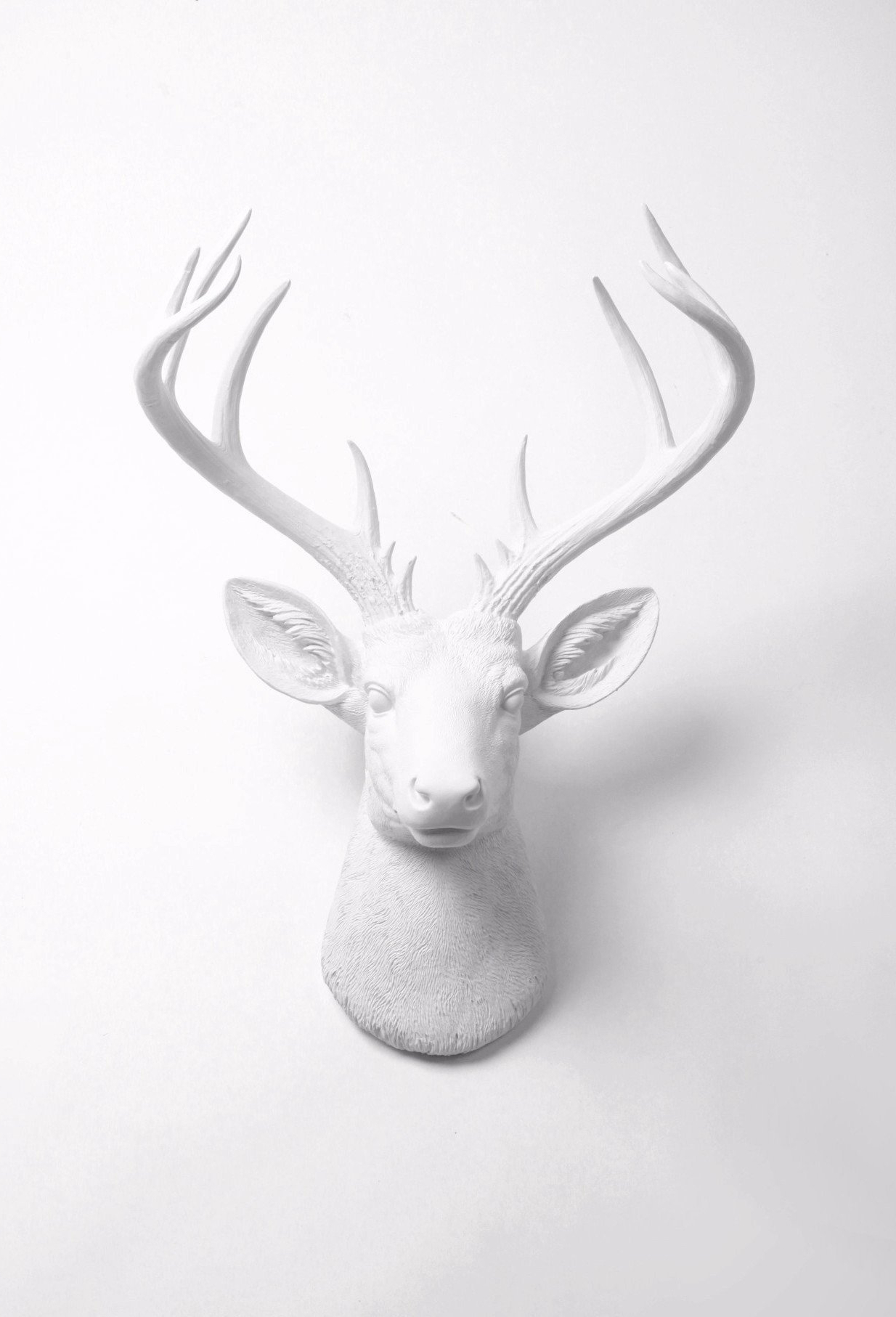 Fake Taxidermy Regarding Most Recent Large Deer Head Faux Taxidermy Wall Decor (Gallery 4 of 20)