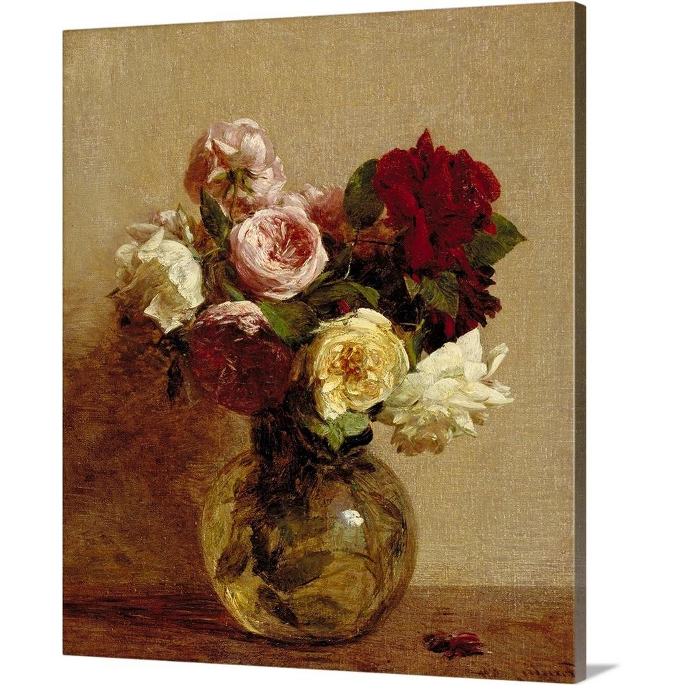 "Famous Latour Wall Decor For Greatbigcanvas ""roses, 1884""ignace (1836 1904) Fantin Latour (Gallery 10 of 20)"