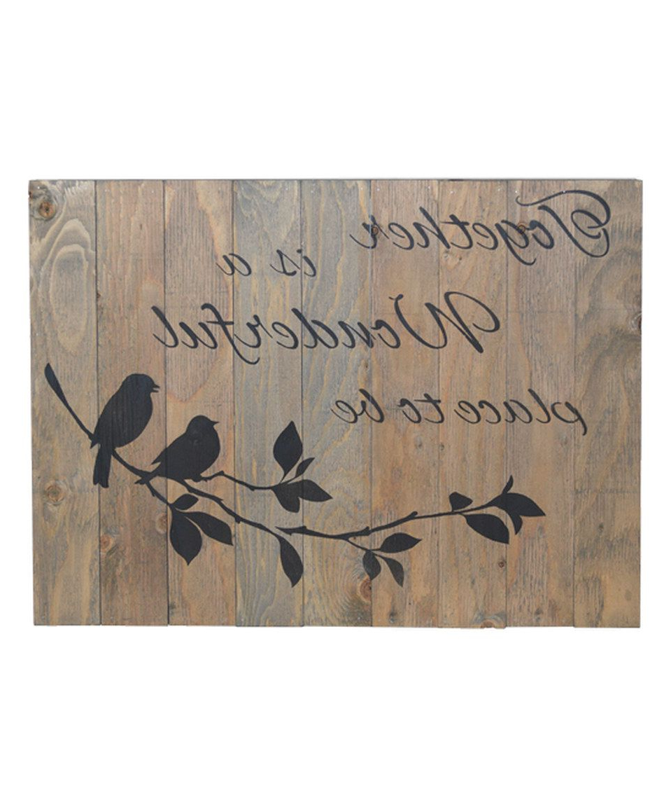 "Famous Look What I Found On #zulily! 'together Is A Wonderful Place To Be Pertaining To In A Word ""welcome"" Wall Decor By Fireside Home (View 12 of 20)"