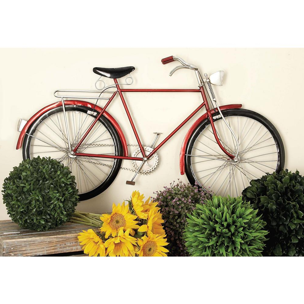 Fashionable Metal Bicycle Wall Decor With Regard To Litton Lane 36 In. X 19 In (View 8 of 20)