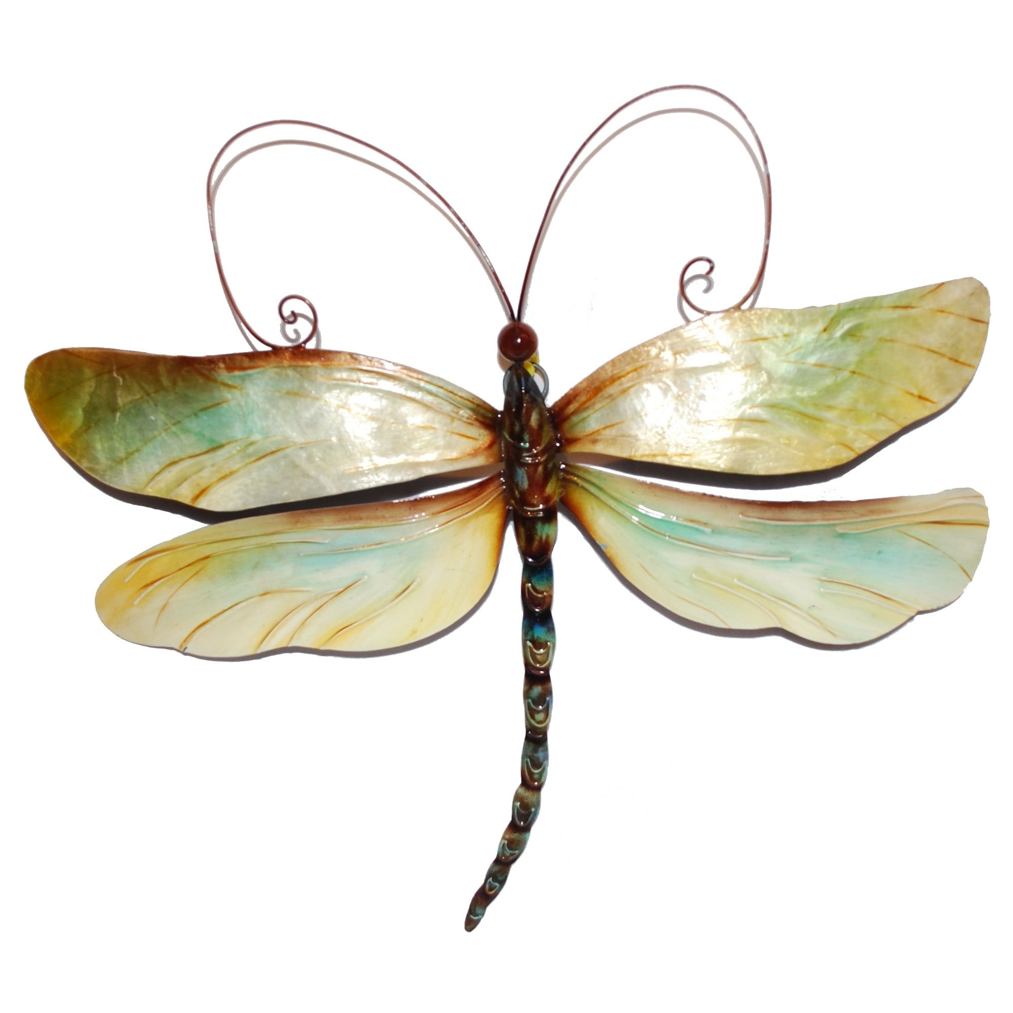 Fashionable Shop Handmade Metal And Capiz Dragonfly Wall Decor – On Sale – Free Regarding Dragonfly Wall Decor (View 9 of 20)